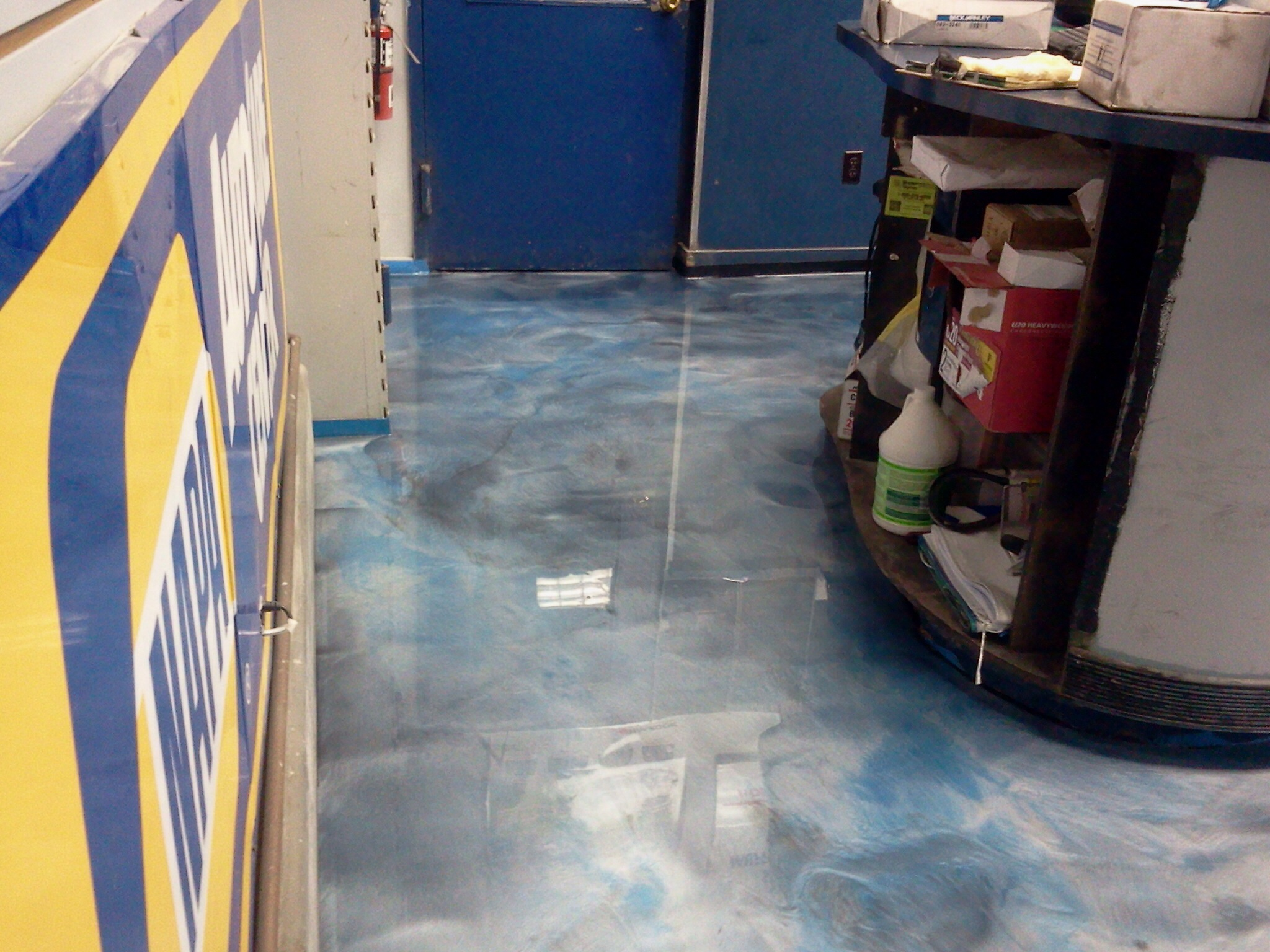 Stunning Metallic Epoxy Floors system