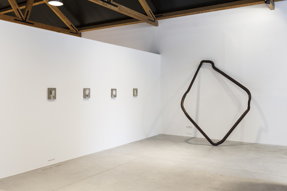 Ascencion, 2013 Reconstructed mahogany handrail banisters,two flights of stairsImages courtesy Mario Sequeira gallery