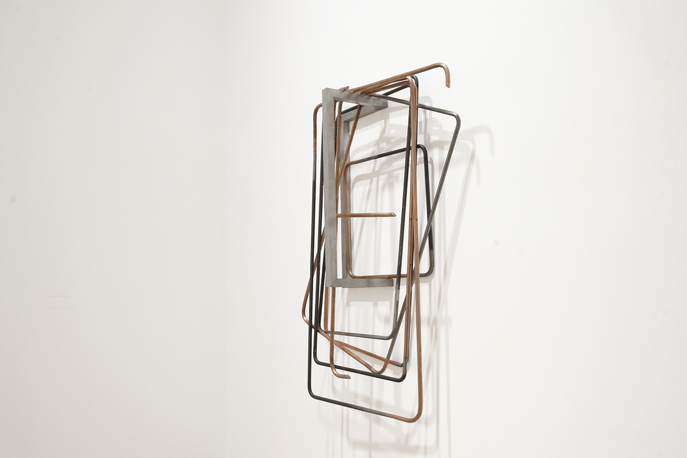 untitled (folding chairs), 2015; copper, steel, aluminium