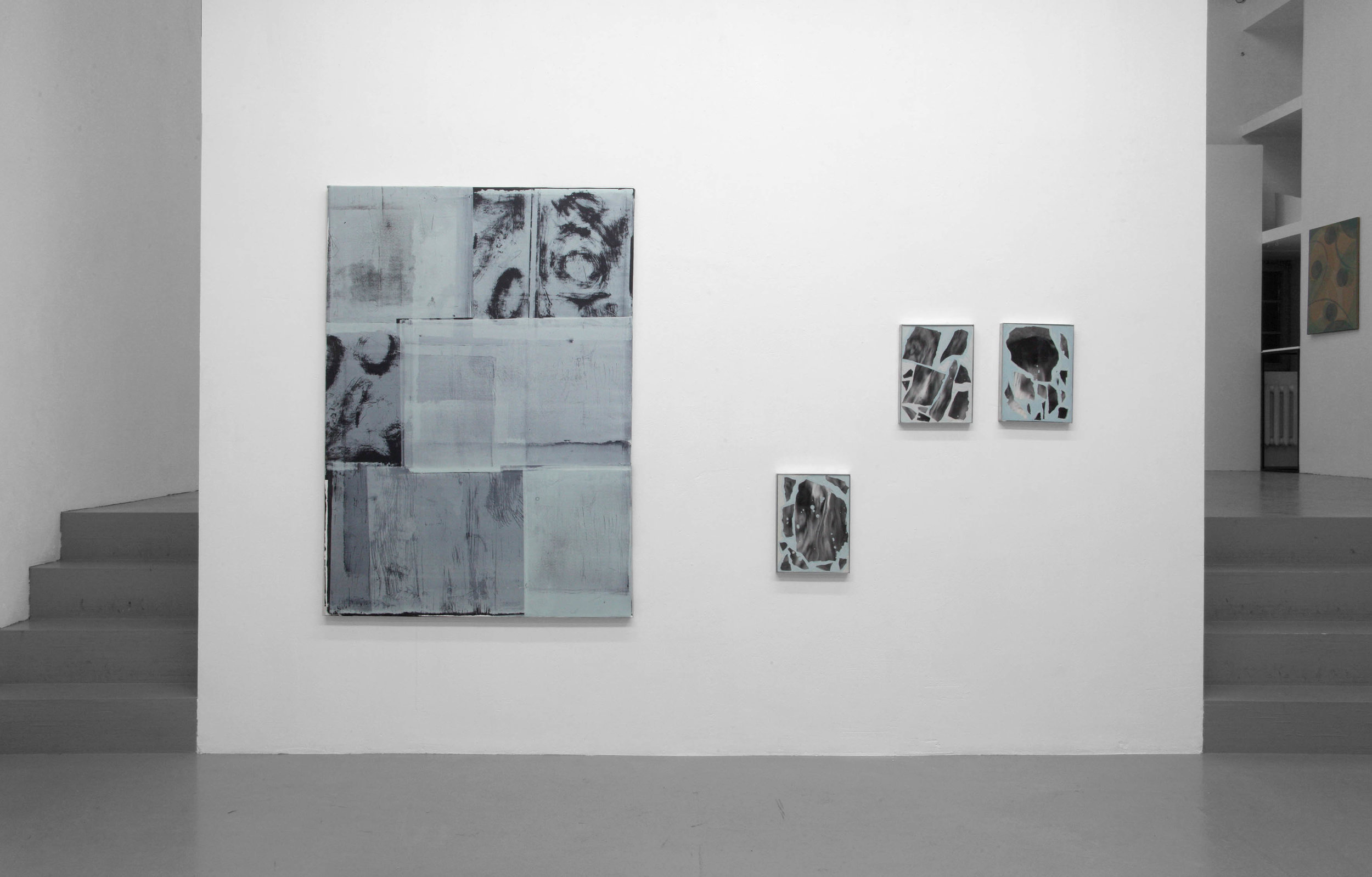 Blue Seventeen, 2017 installation view with Olga Grotova