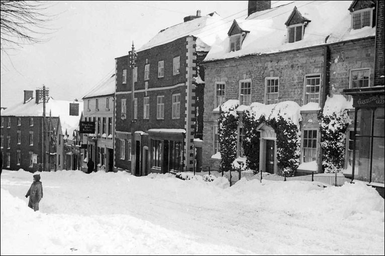 Cleobury Mortimer in the Snow.