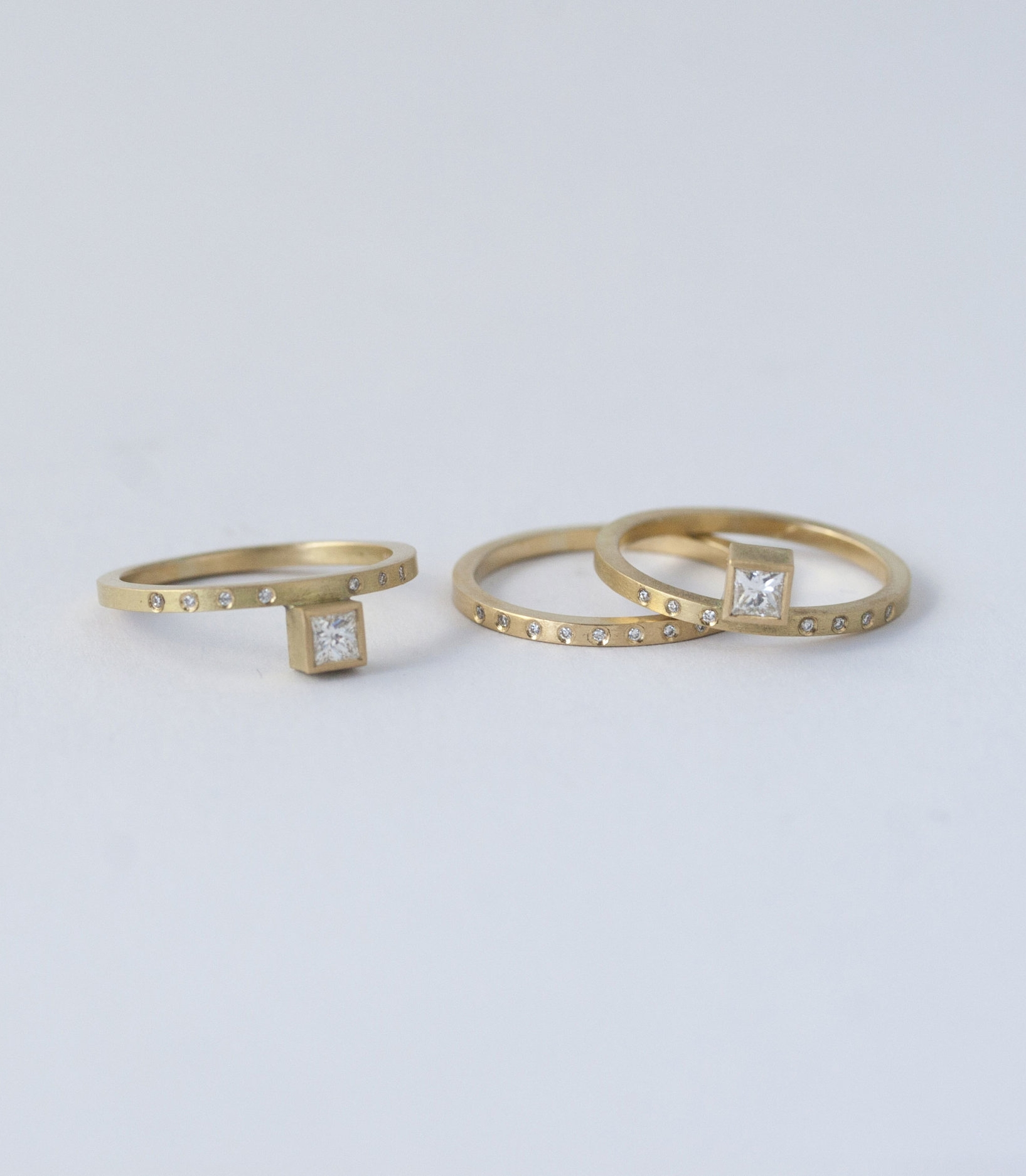 - Great as engagement and wedding rings for someone wanting something a bit different.