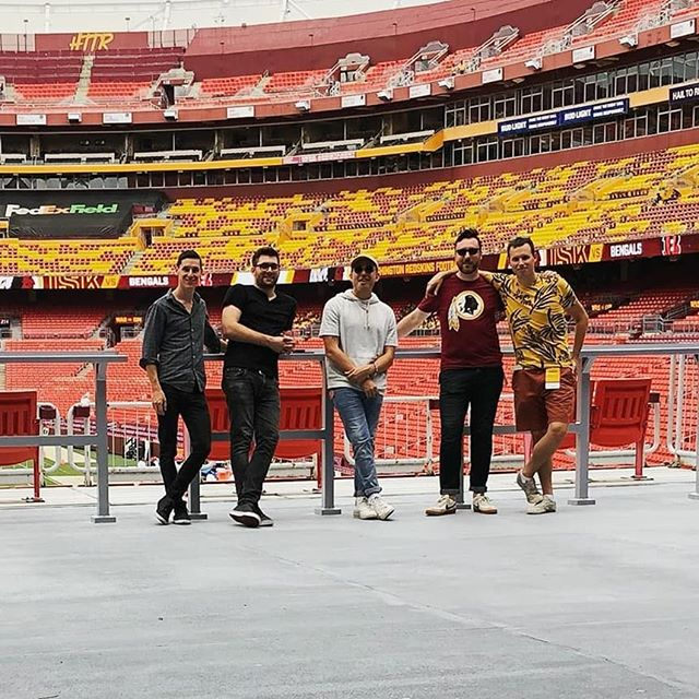 Football season baby! Psyched  to be playing here today. If you're at FedEx Field stop by and party with us!