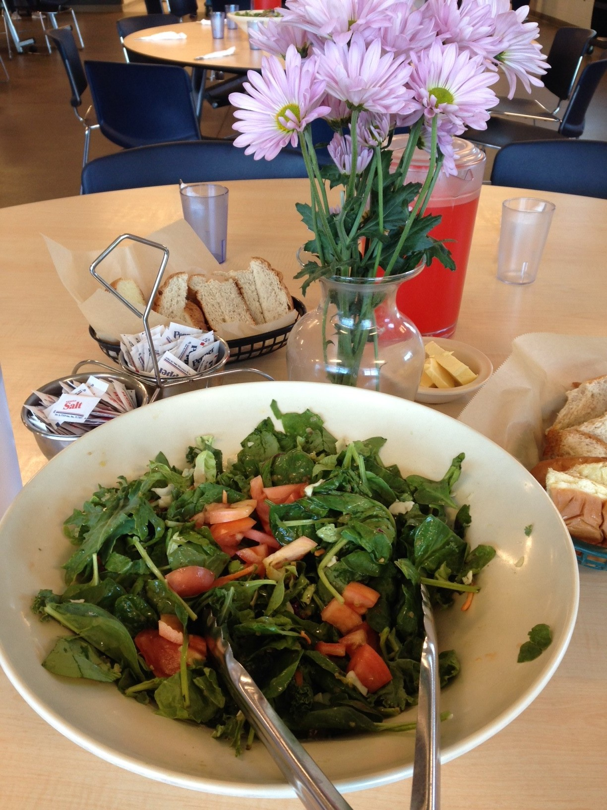 The tomatoes on this salad were grown by our members.