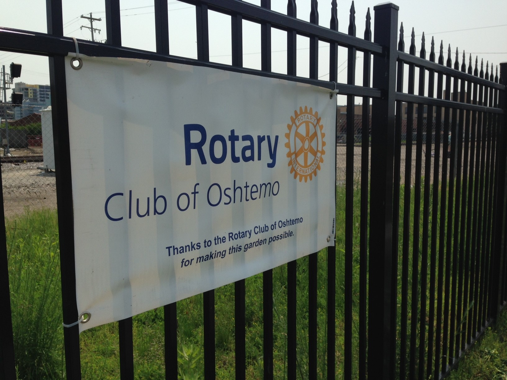 Thanks to the Rotary Club of Oshtemo for making our garden possible!