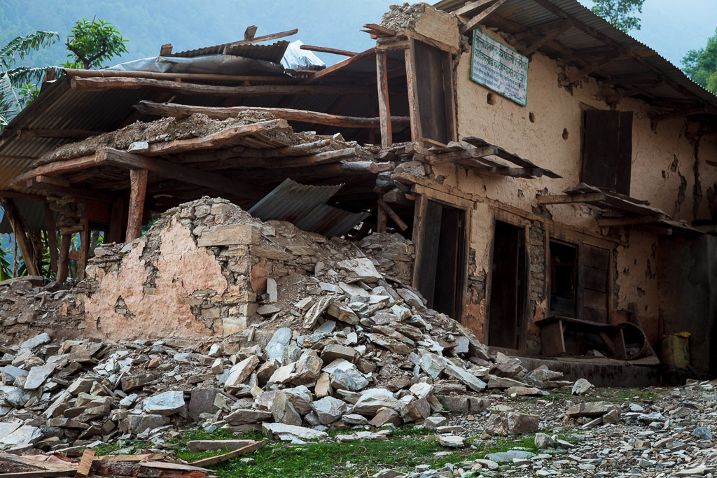 Typical damage throughout the 17 districts most heavily hit by the April 25th earthquake.