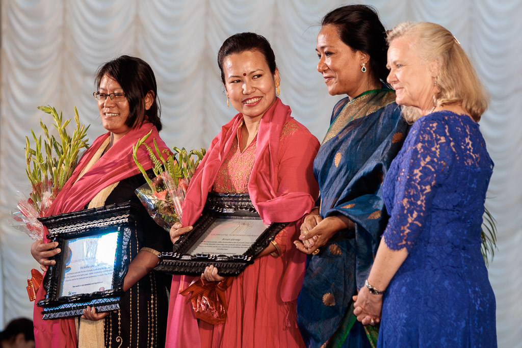 Celebrating Womanhood honours Rewati Gurung for her compassion, selfless initiation and rising to the rescue of children affected by the earthquake to ensure their future by enabling them to continue their education.