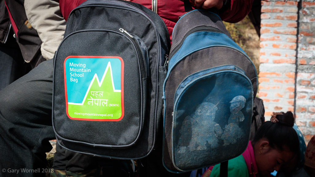The new Moving Mountain School Bag and the original,now almost 3 years old.