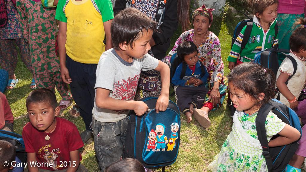 Donation day - May 19, 2015 - Shree Chipling, Sindupalchok.