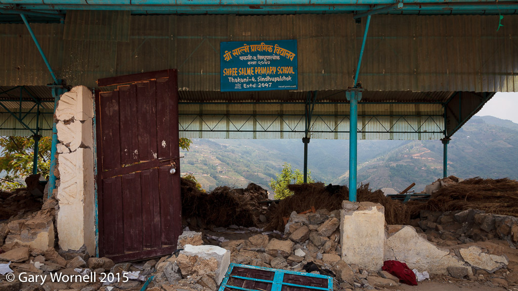 Shree Salme Primary school after the earthquake of May 12, 2015.