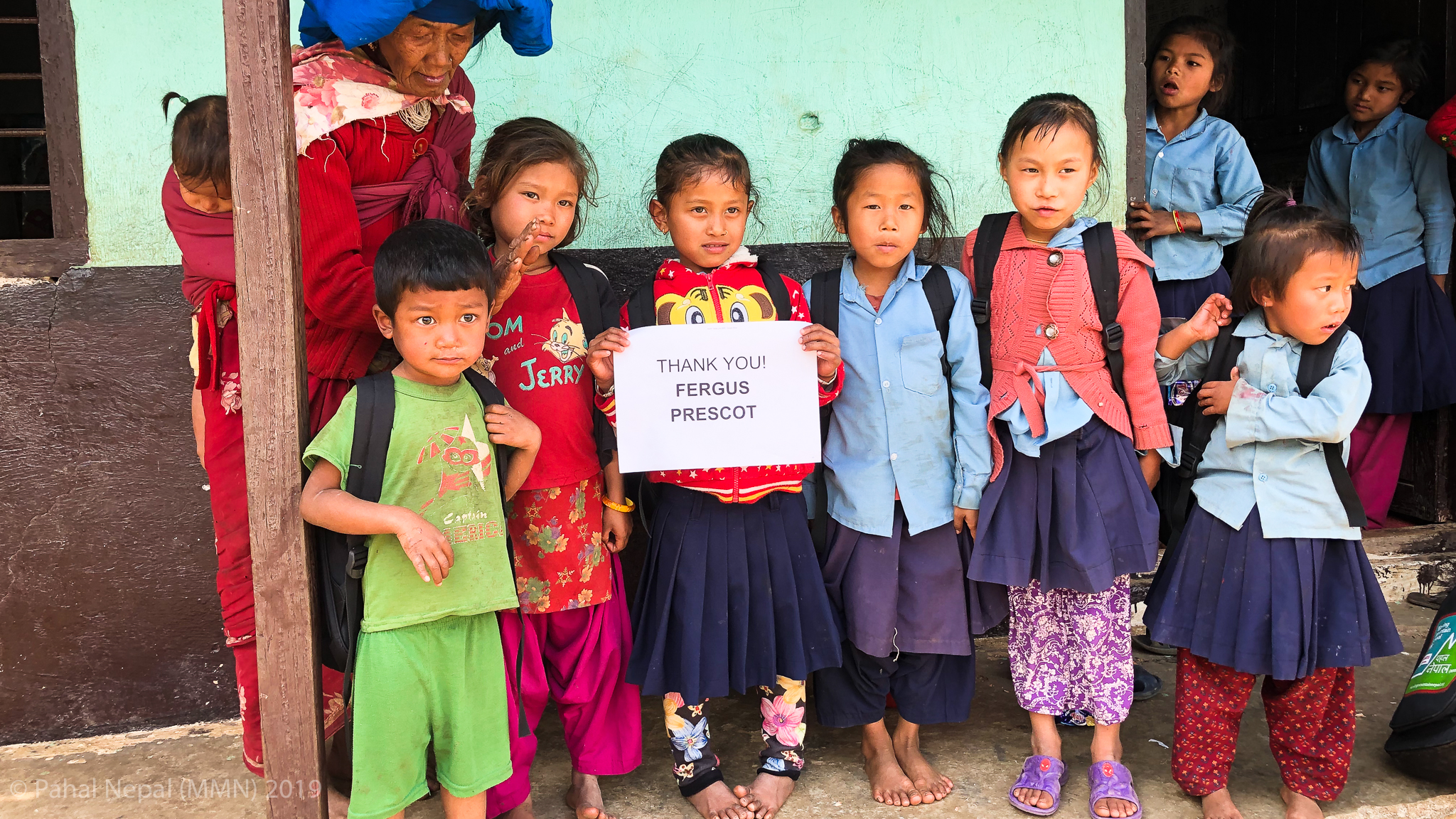 Moving Mountain Nepal have a tradition of thanking individual sponsors since we began in 2015. Each get sent an image of the children their donation has sponsored.