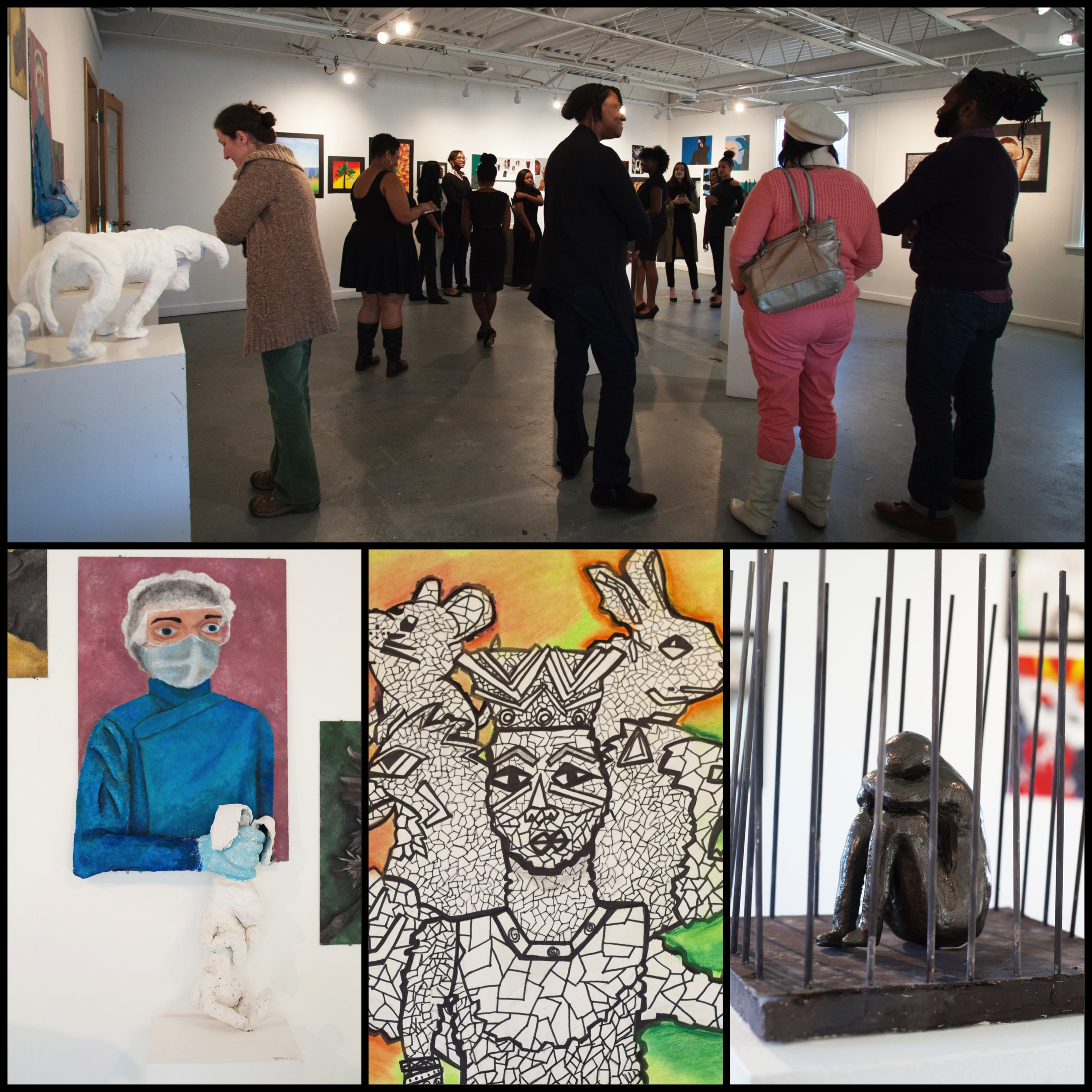 art matters   gallery show,Personal Investigations, with art by students at Parkdale High School.