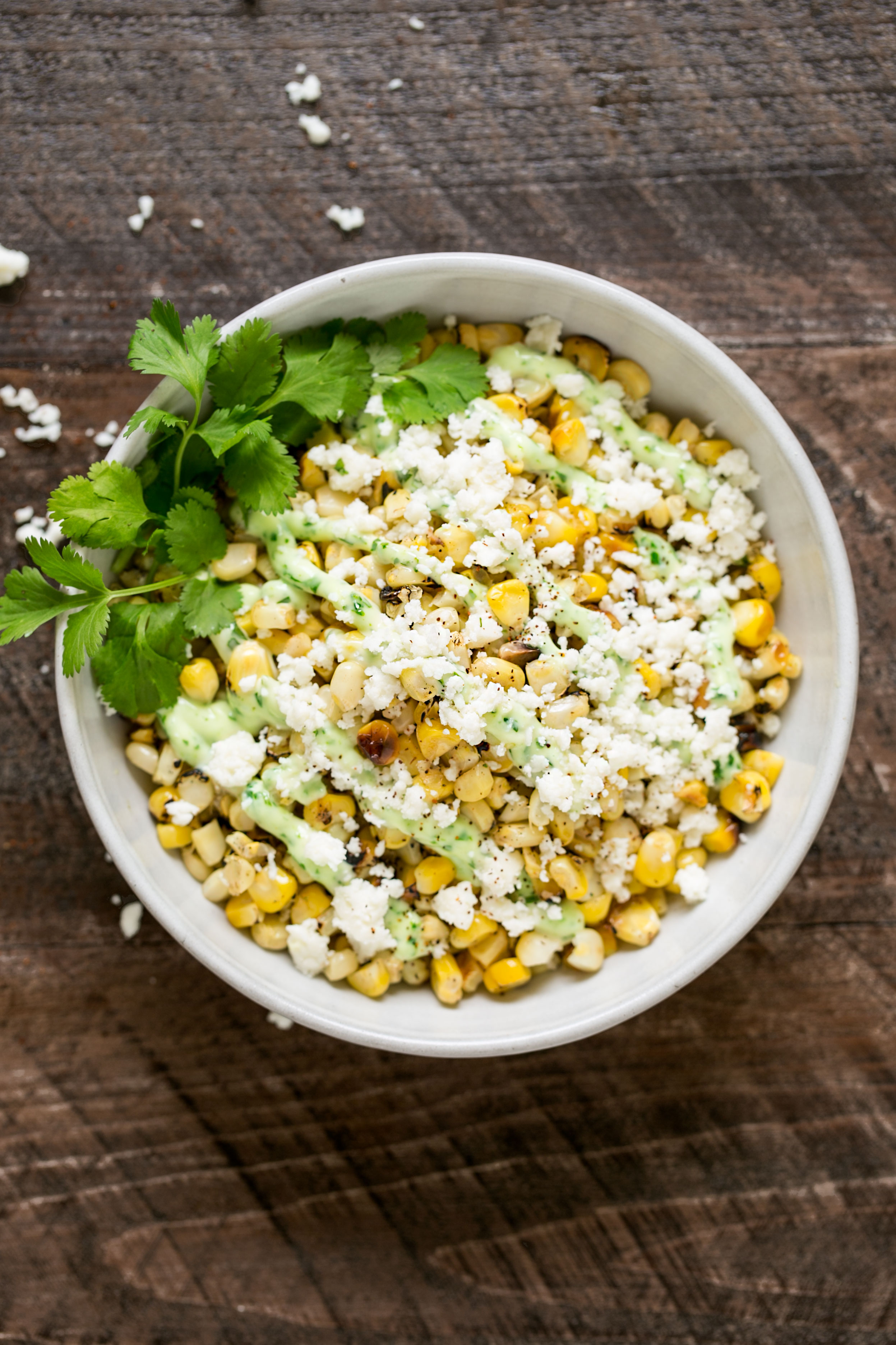 spicy charred corn side