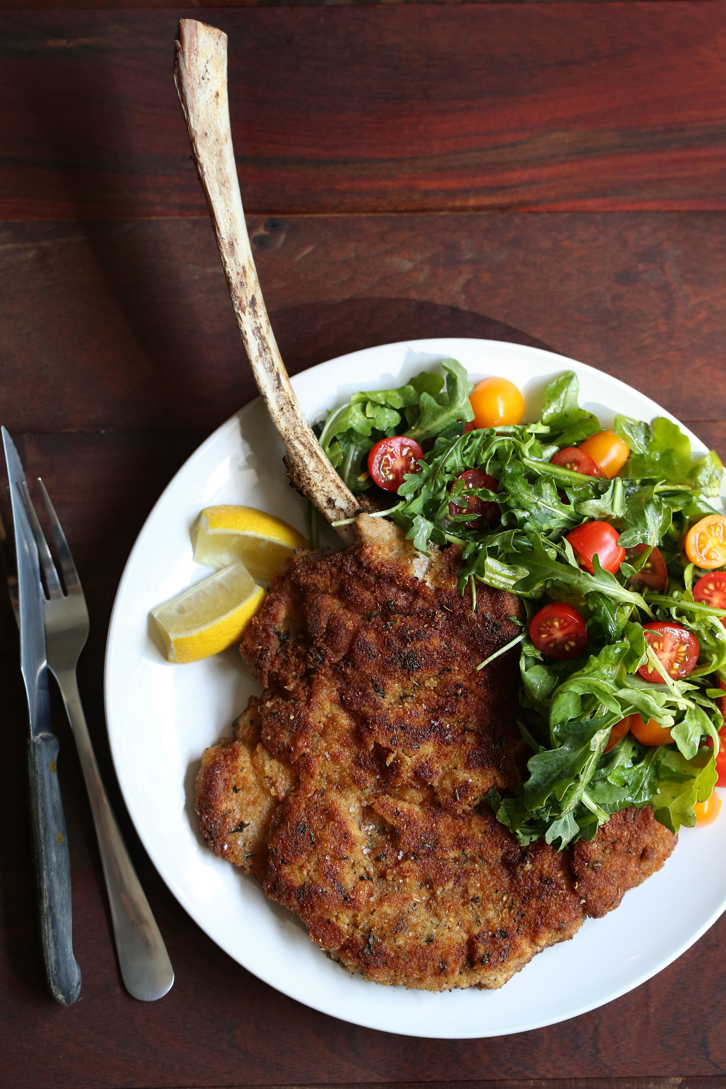 veal milanese dish