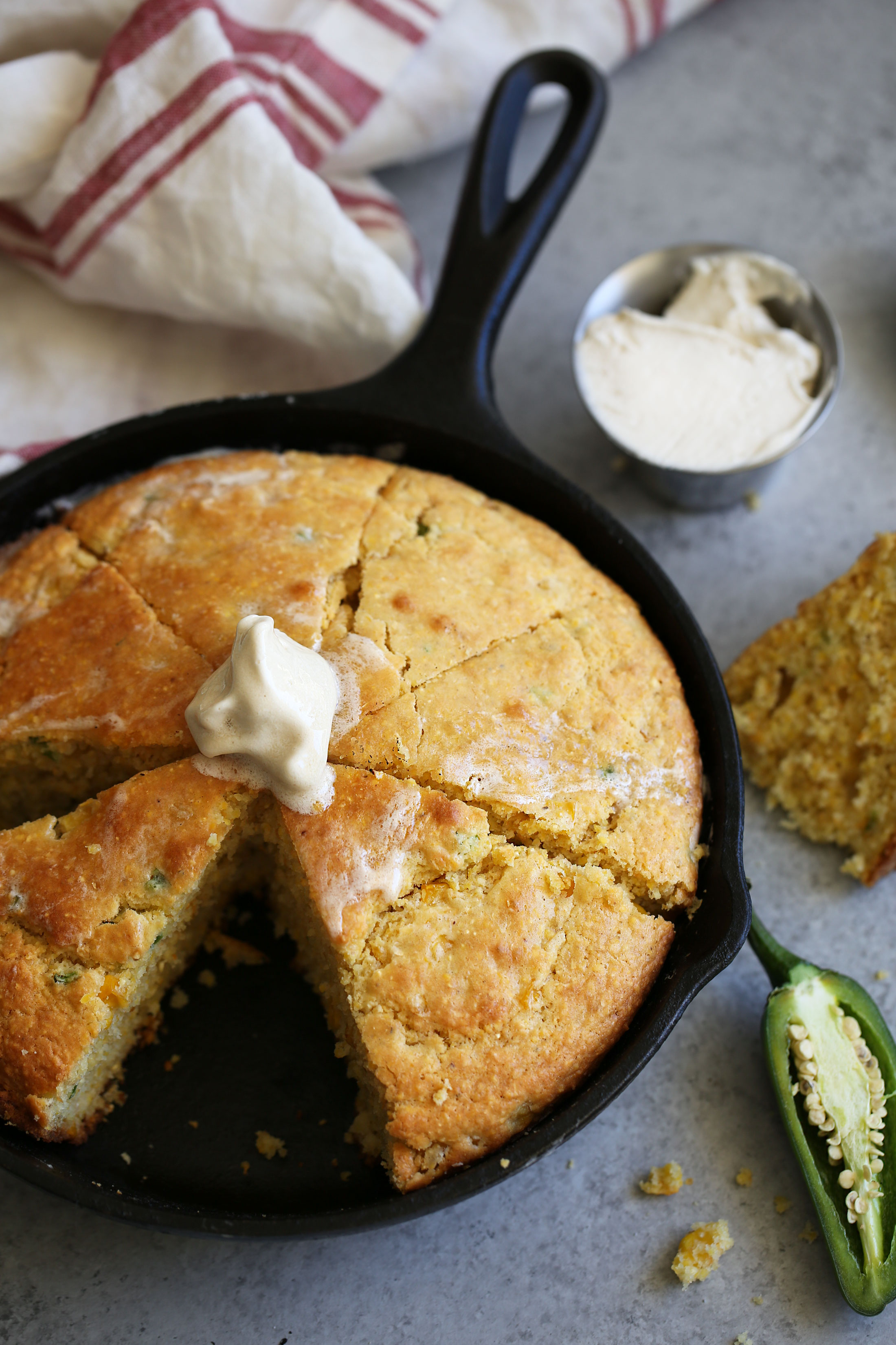 skillet cornbread with maple butter