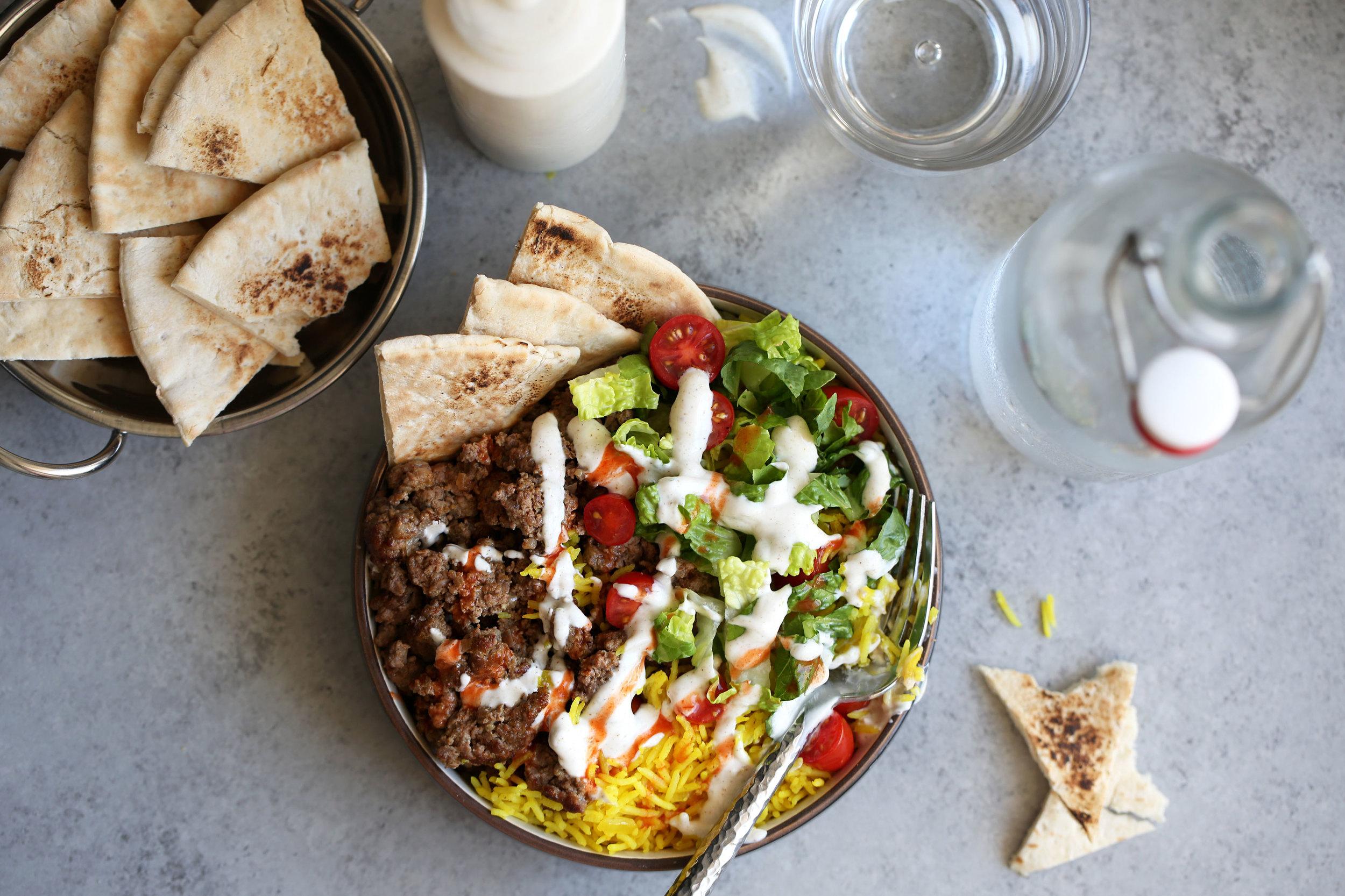 halal lamb bowl