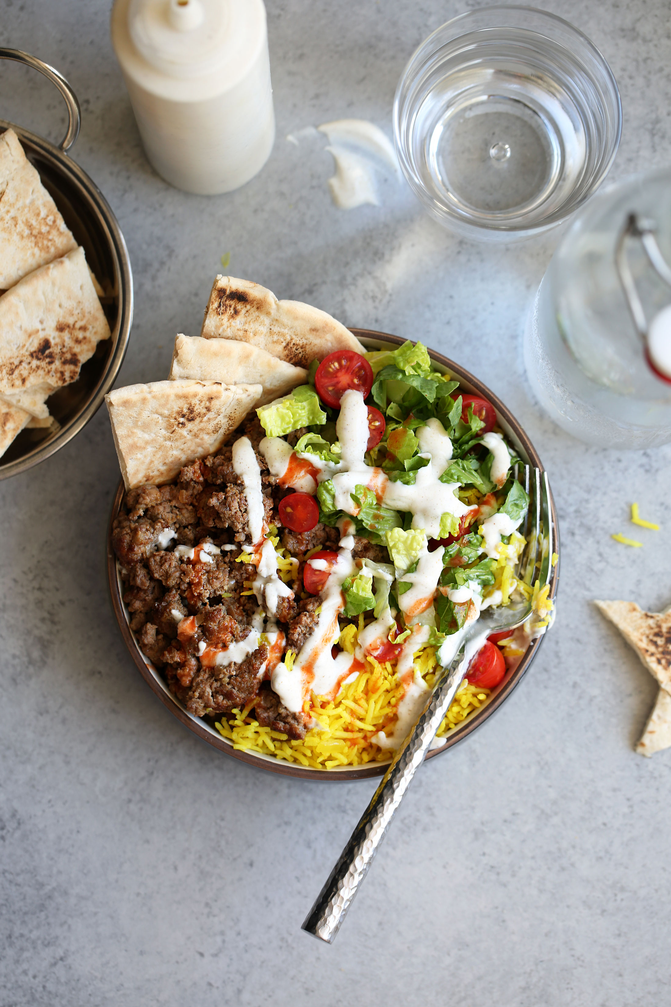 nyc food truck halal lamb platter