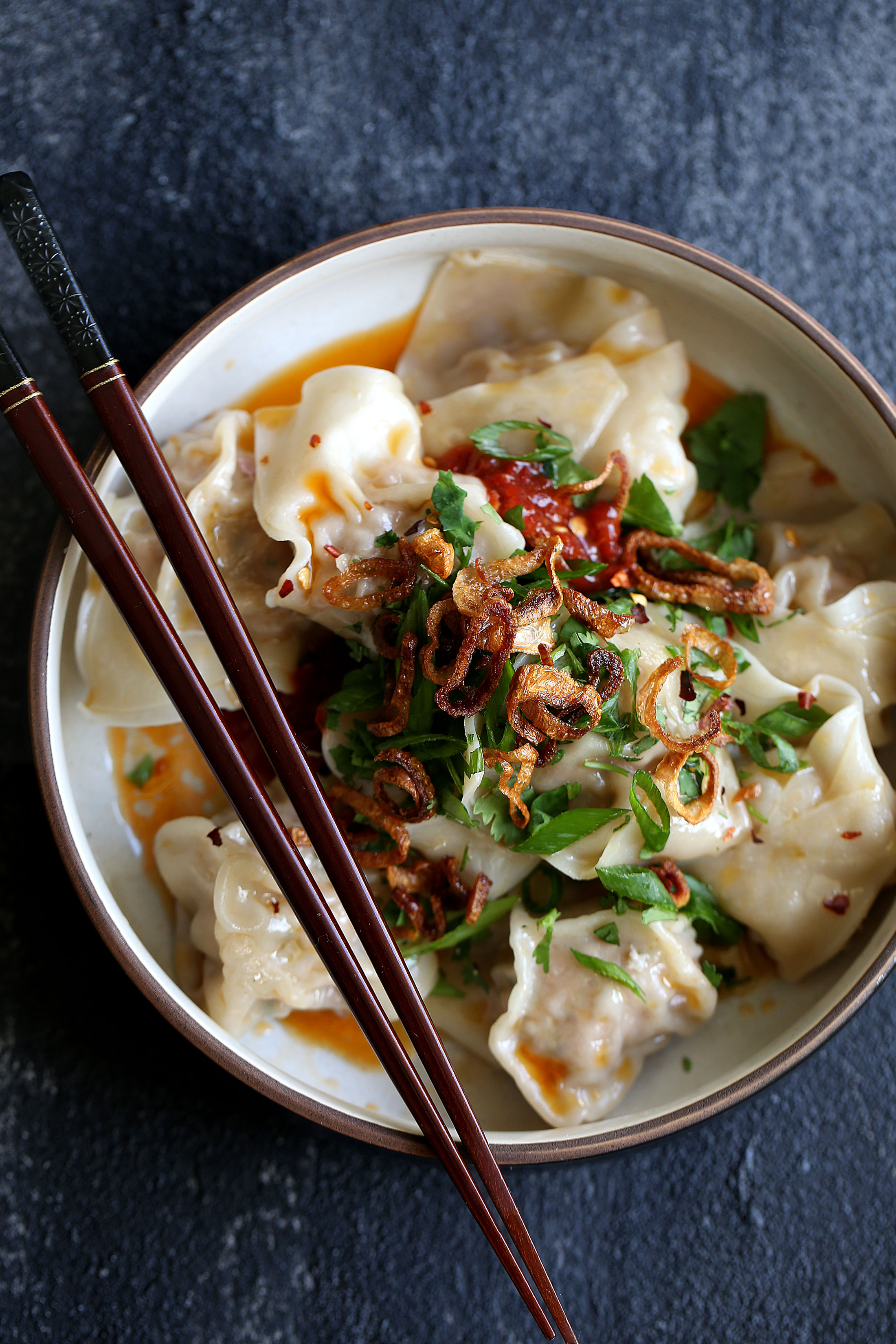 spicy sichuan wontons