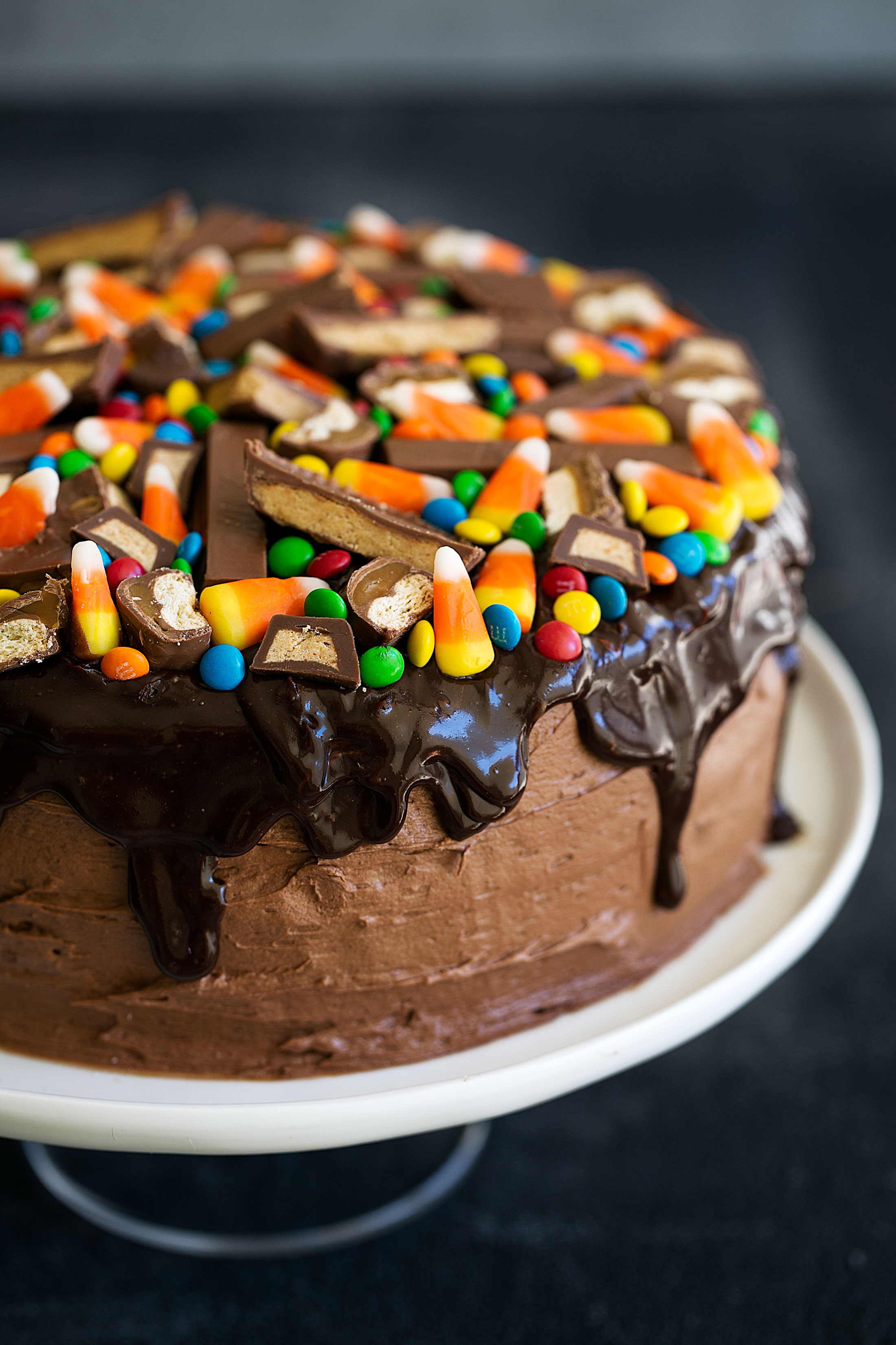 Chocolate Cake with Chocolate Ganache & Halloween Candy