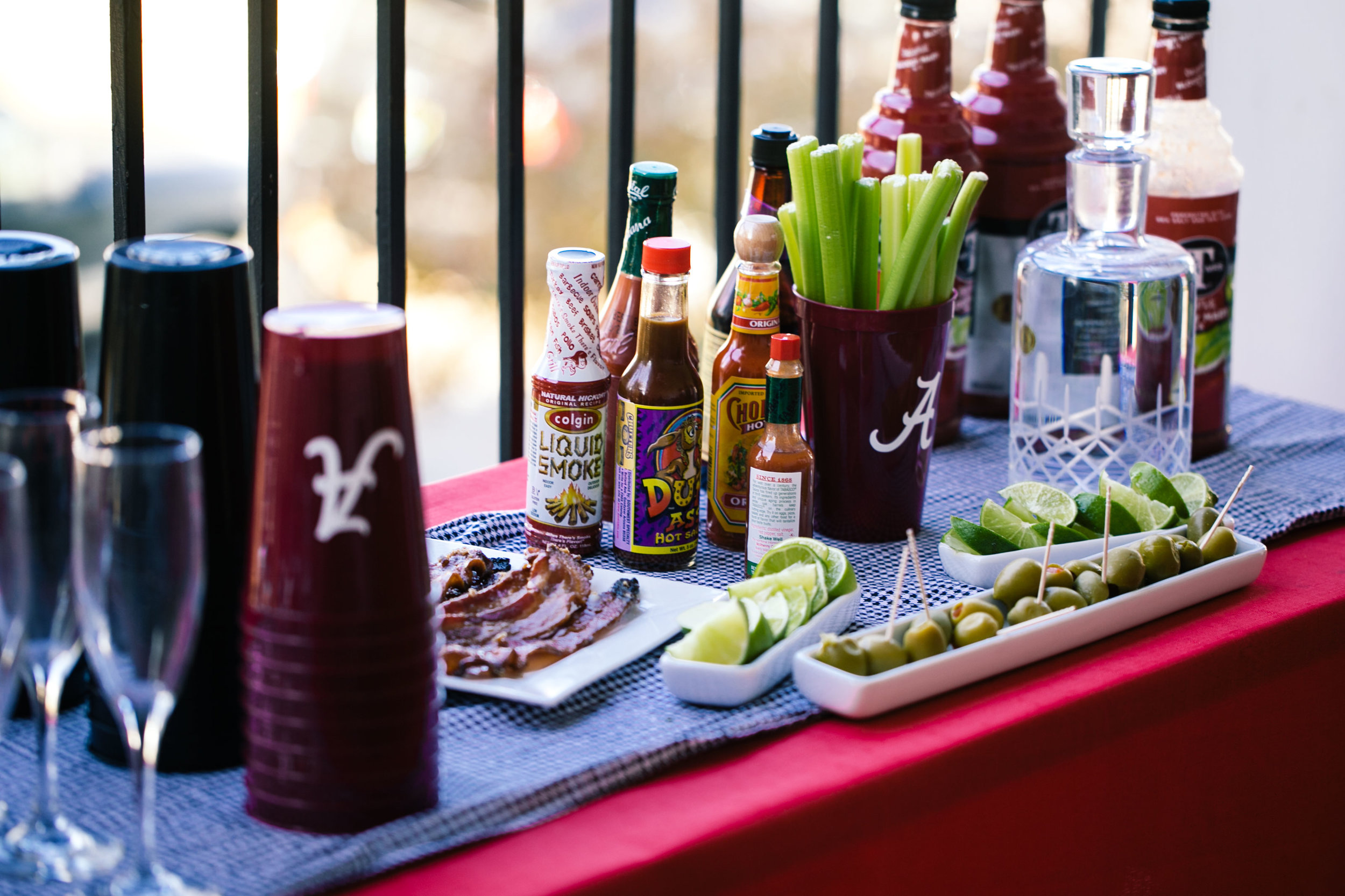 alabama full tailgate bar bloody mary mimosa