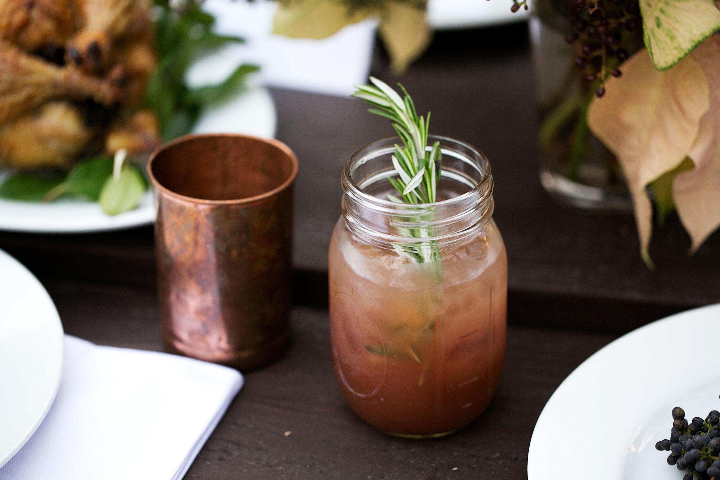 wassail rosemary buck cocktail