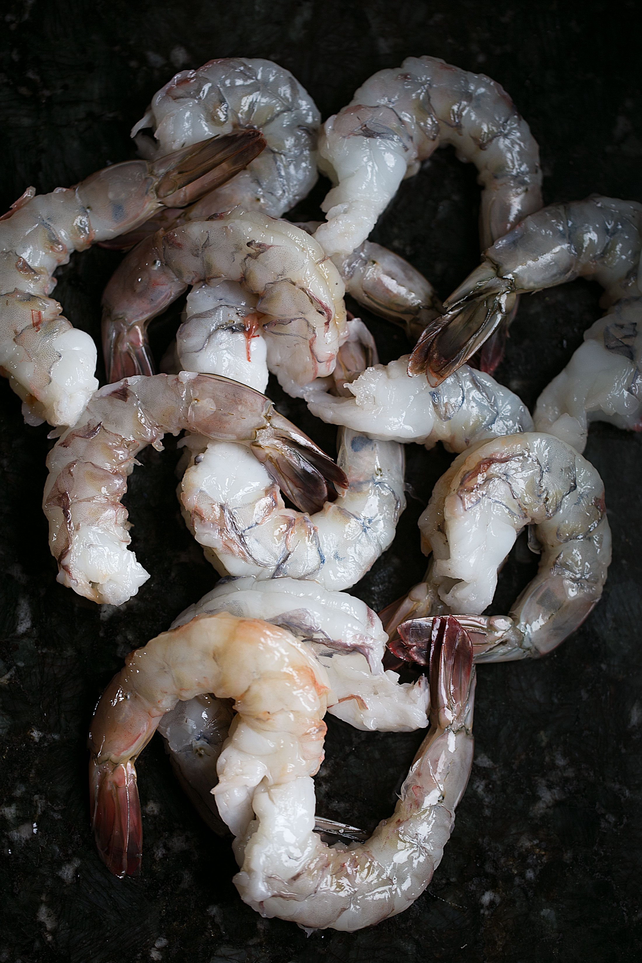 raw colossal shrimp