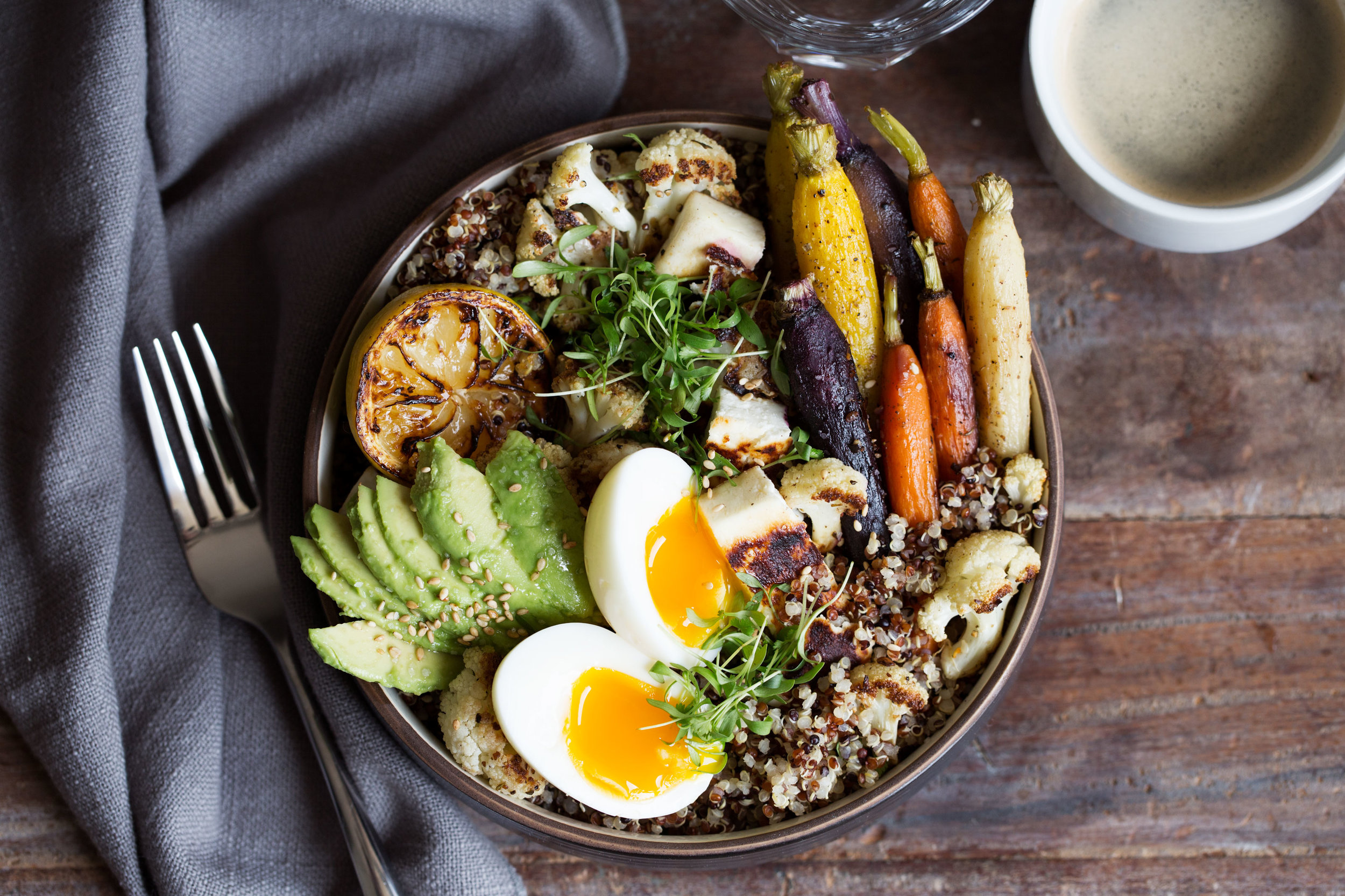 farmer's market breakfast grain bowl