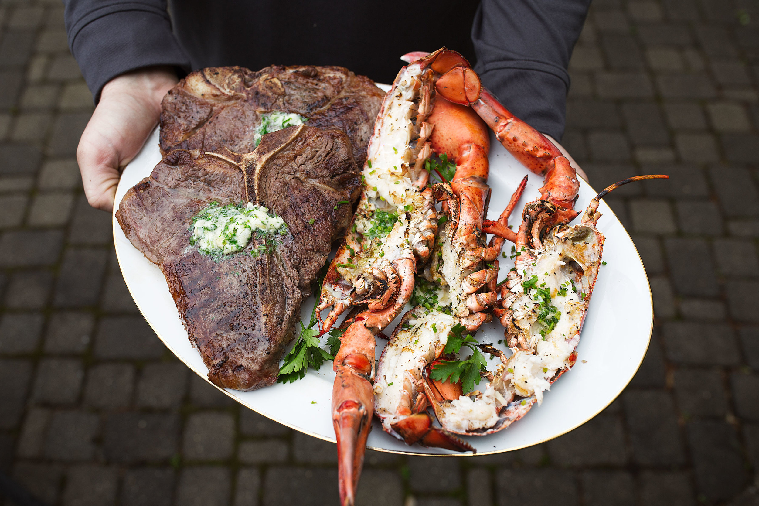 Surf & Turf with Garlic Herb Butter