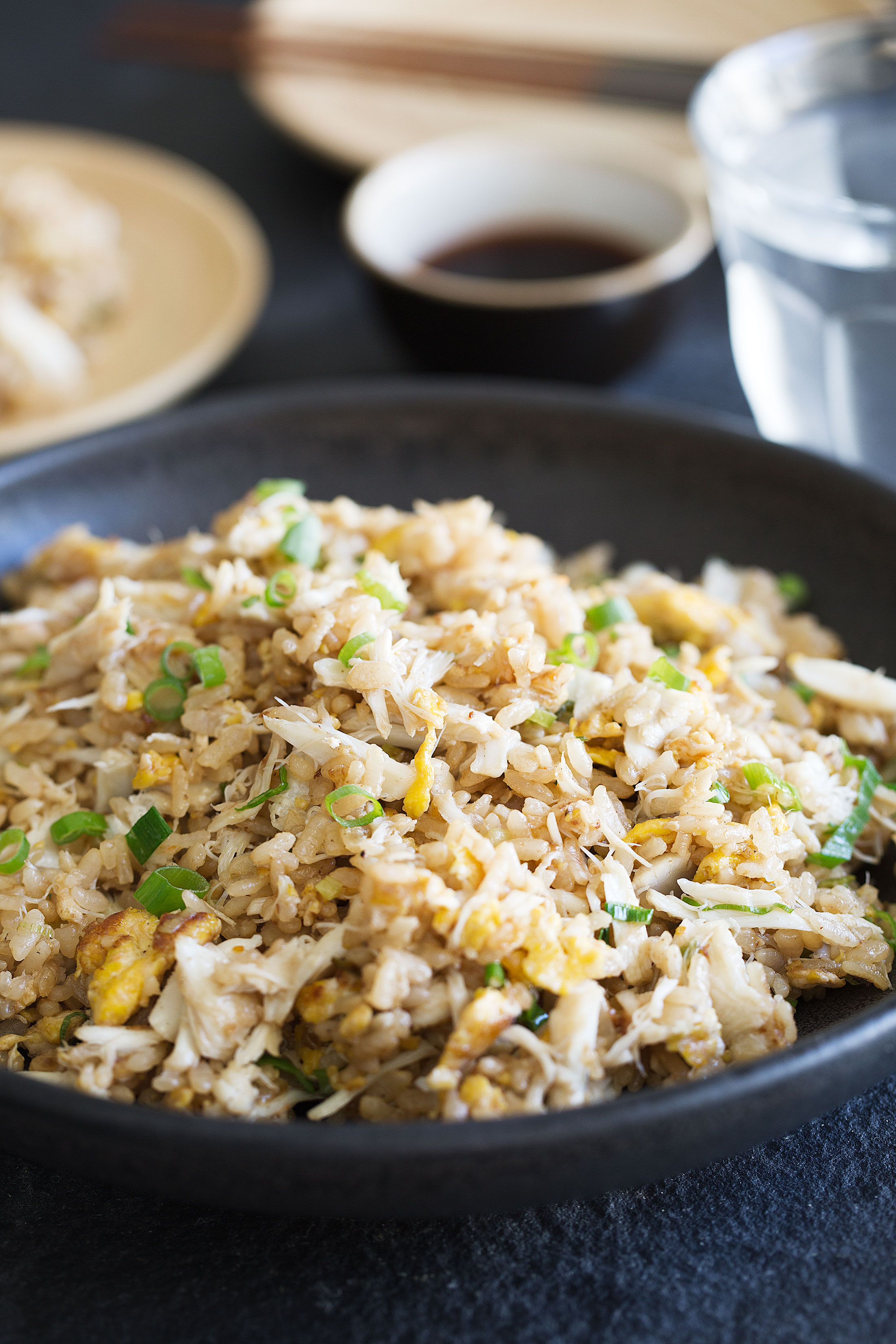 side view fried rice