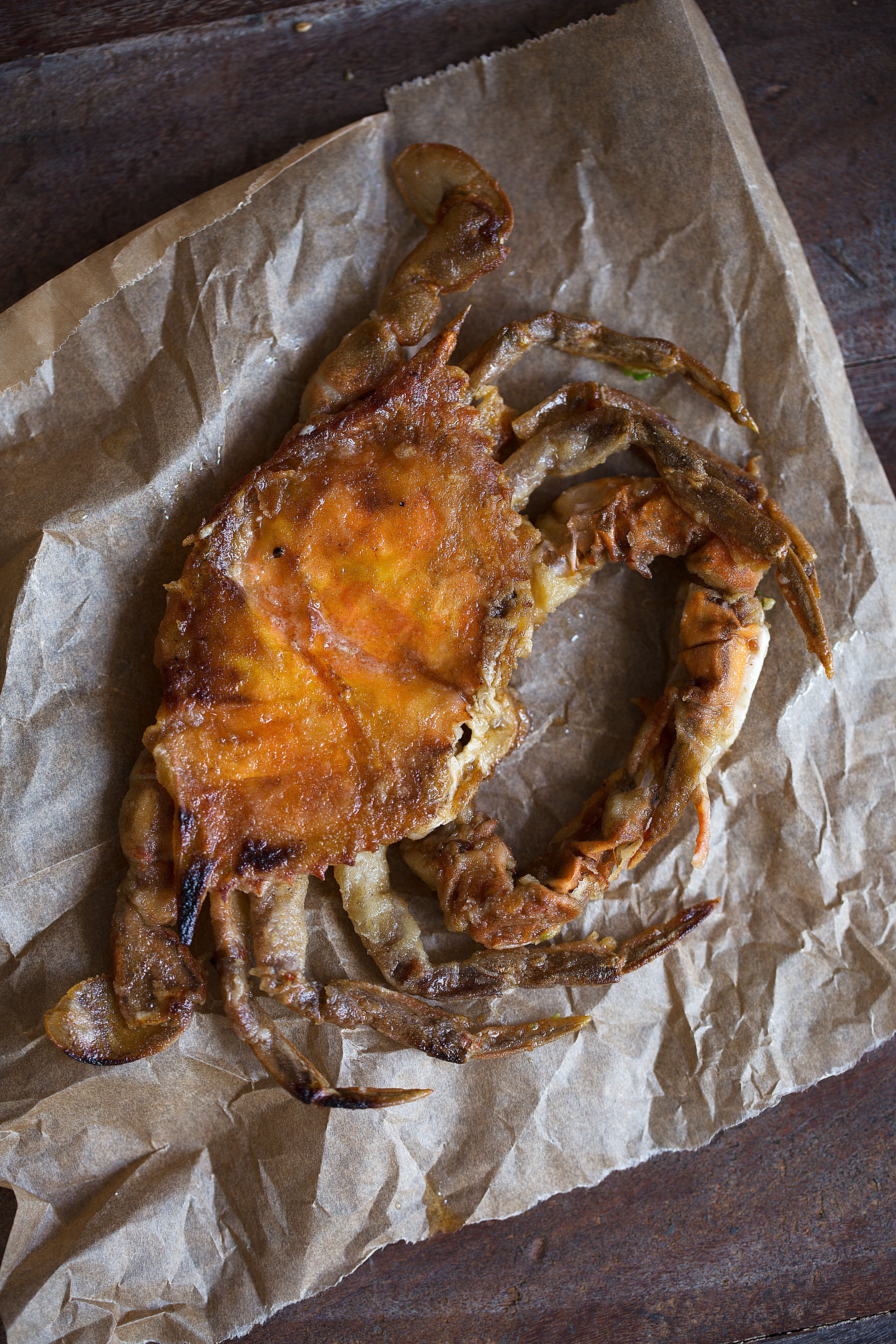 soft shell crab cooked