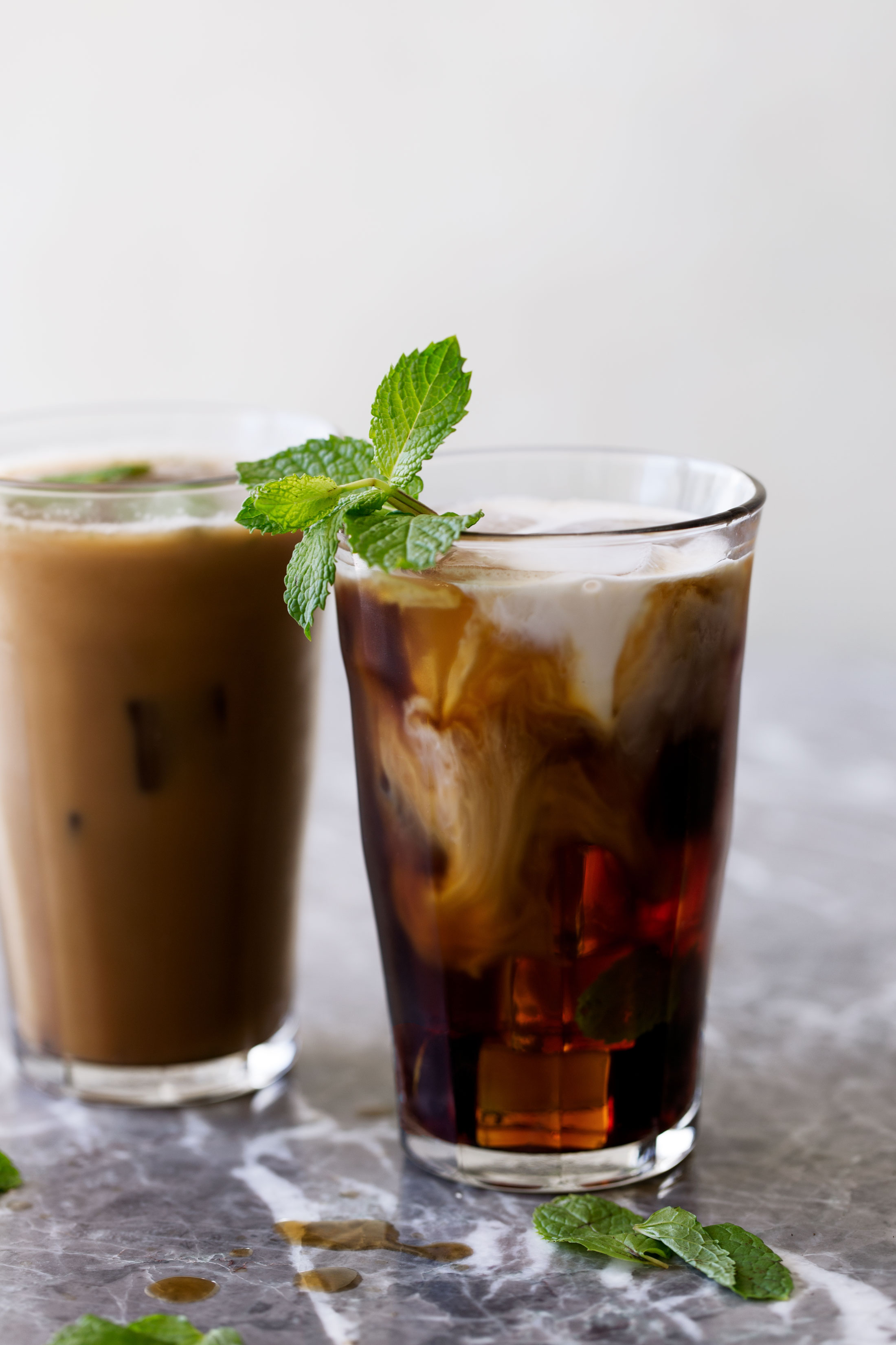 mint mojito iced coffee cooking with cocktail rings