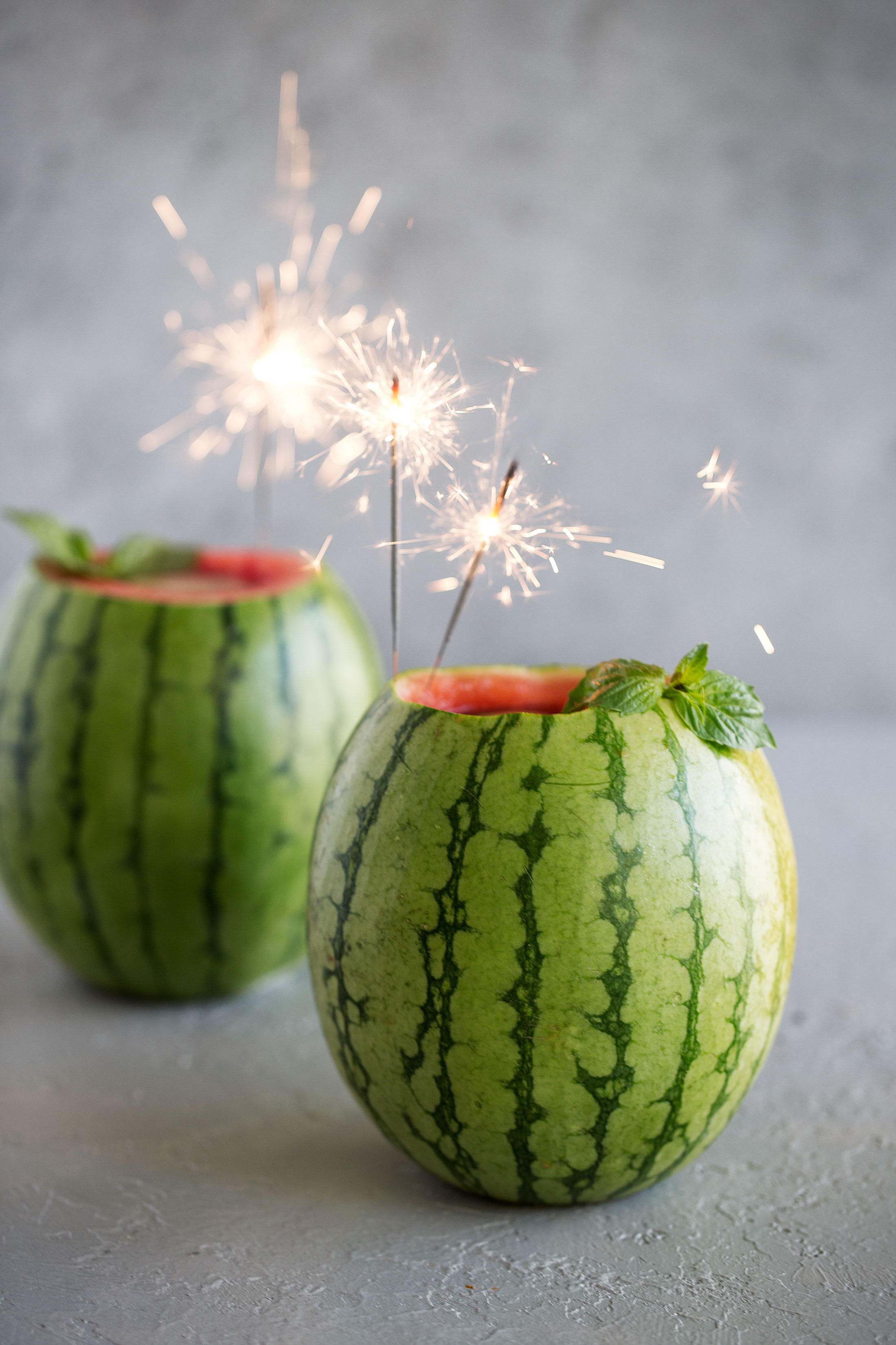 watermelon basil gimlet bucket cooking with cocktail rings