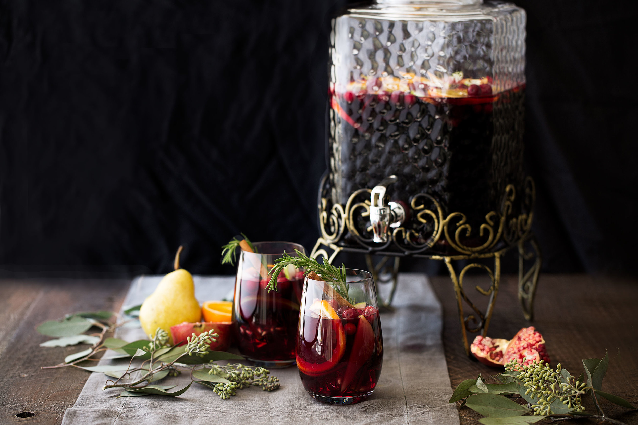 winter red sangria cooking with cocktail rings home depot