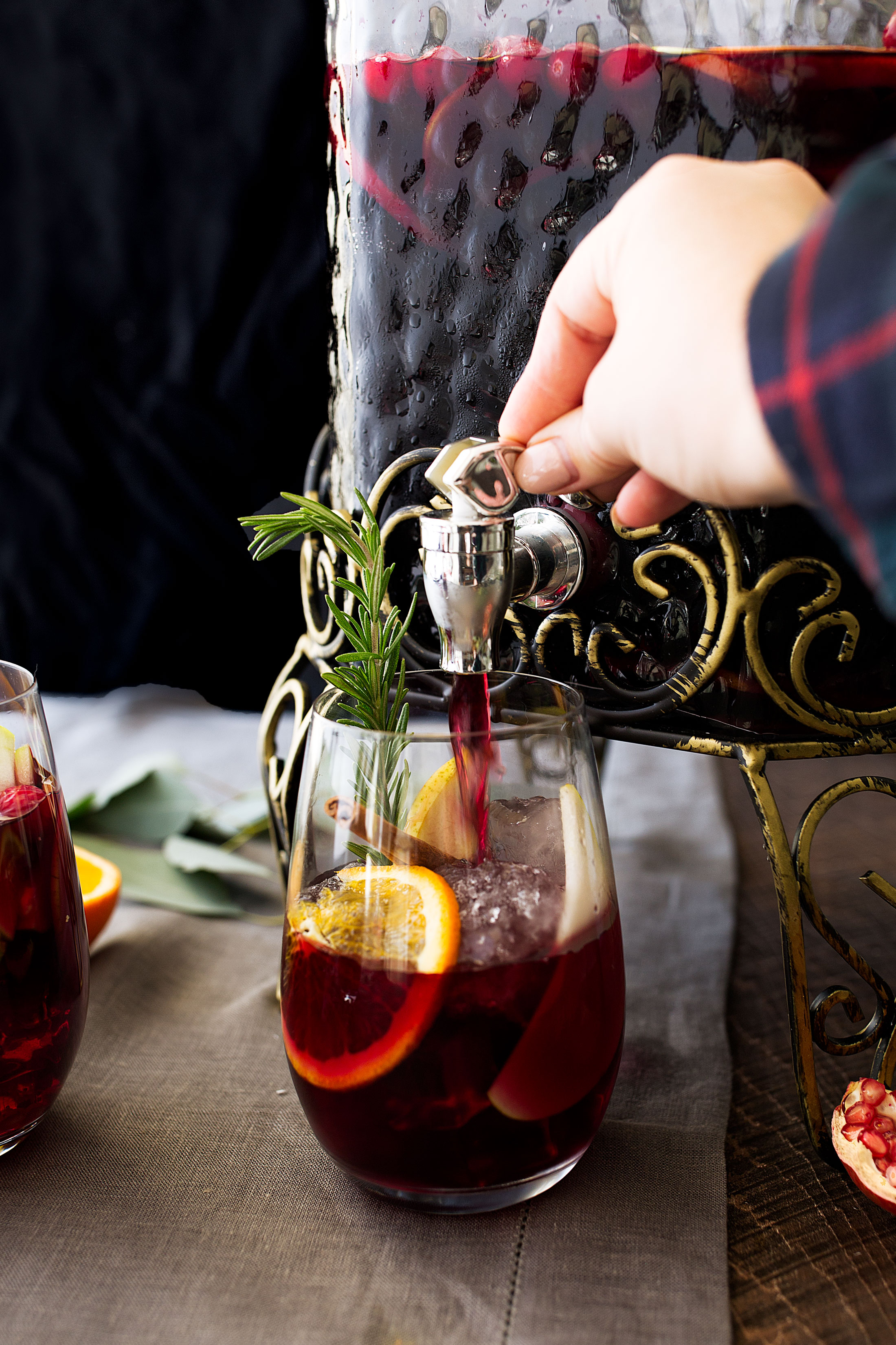 winter red sangria ingredients cooking with cocktail rings home depot pour