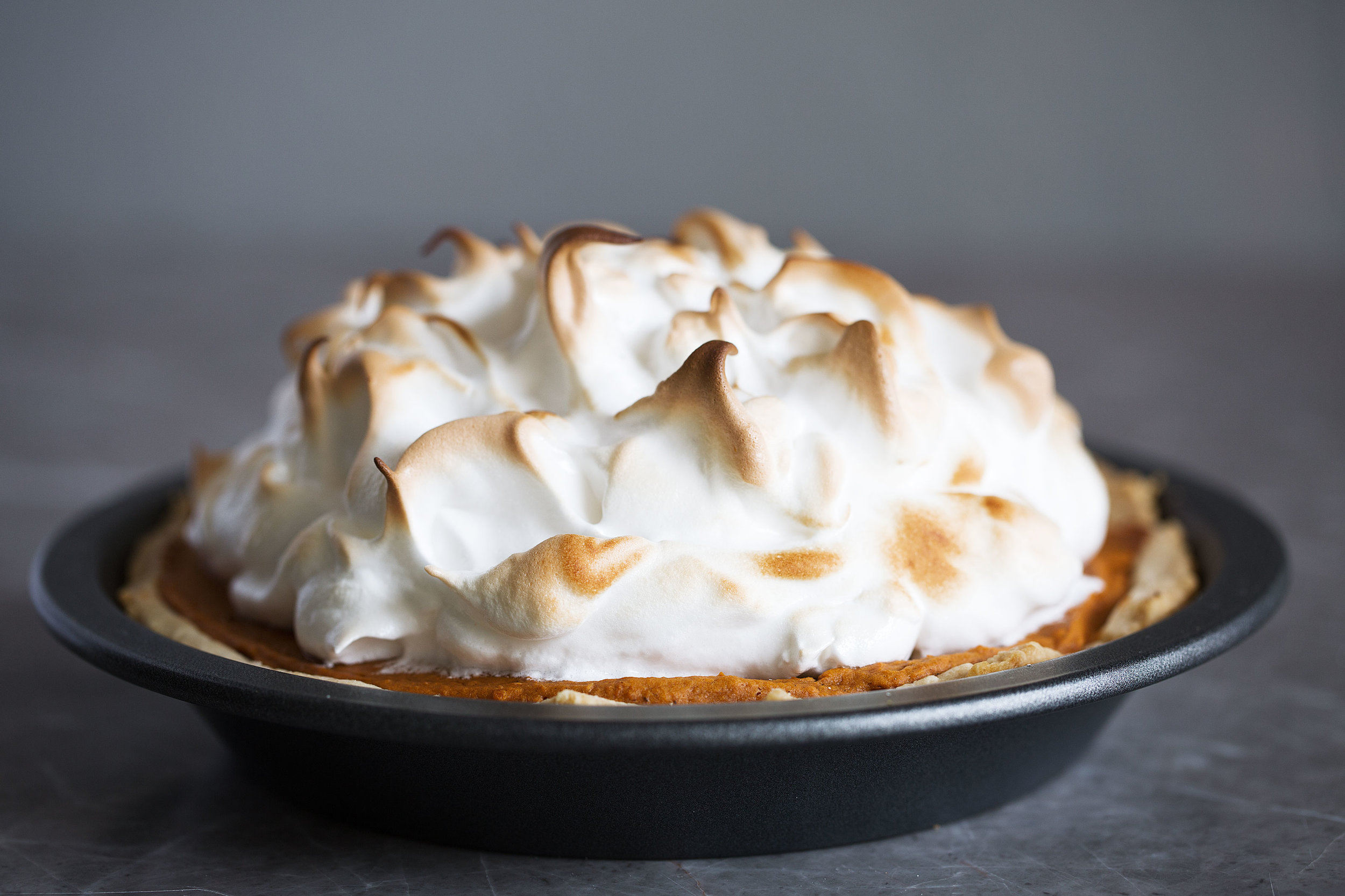sweet potato pie with toasted meringue topping recipe from cooking with cocktail rings