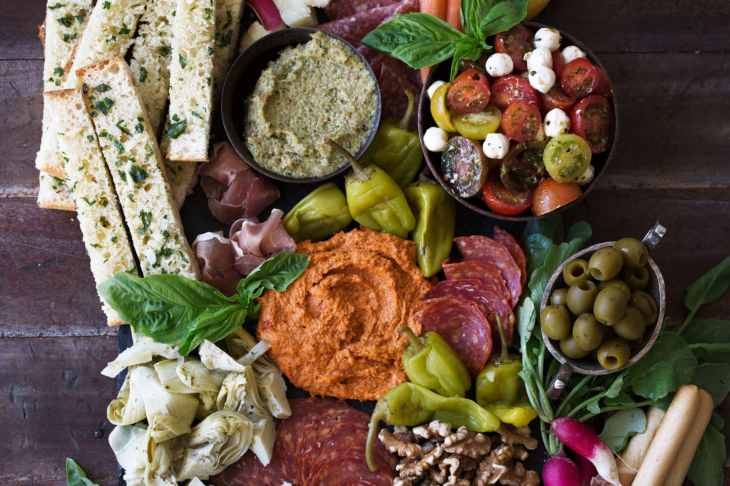 Antipasto Platter Cooking With Cocktail Rings