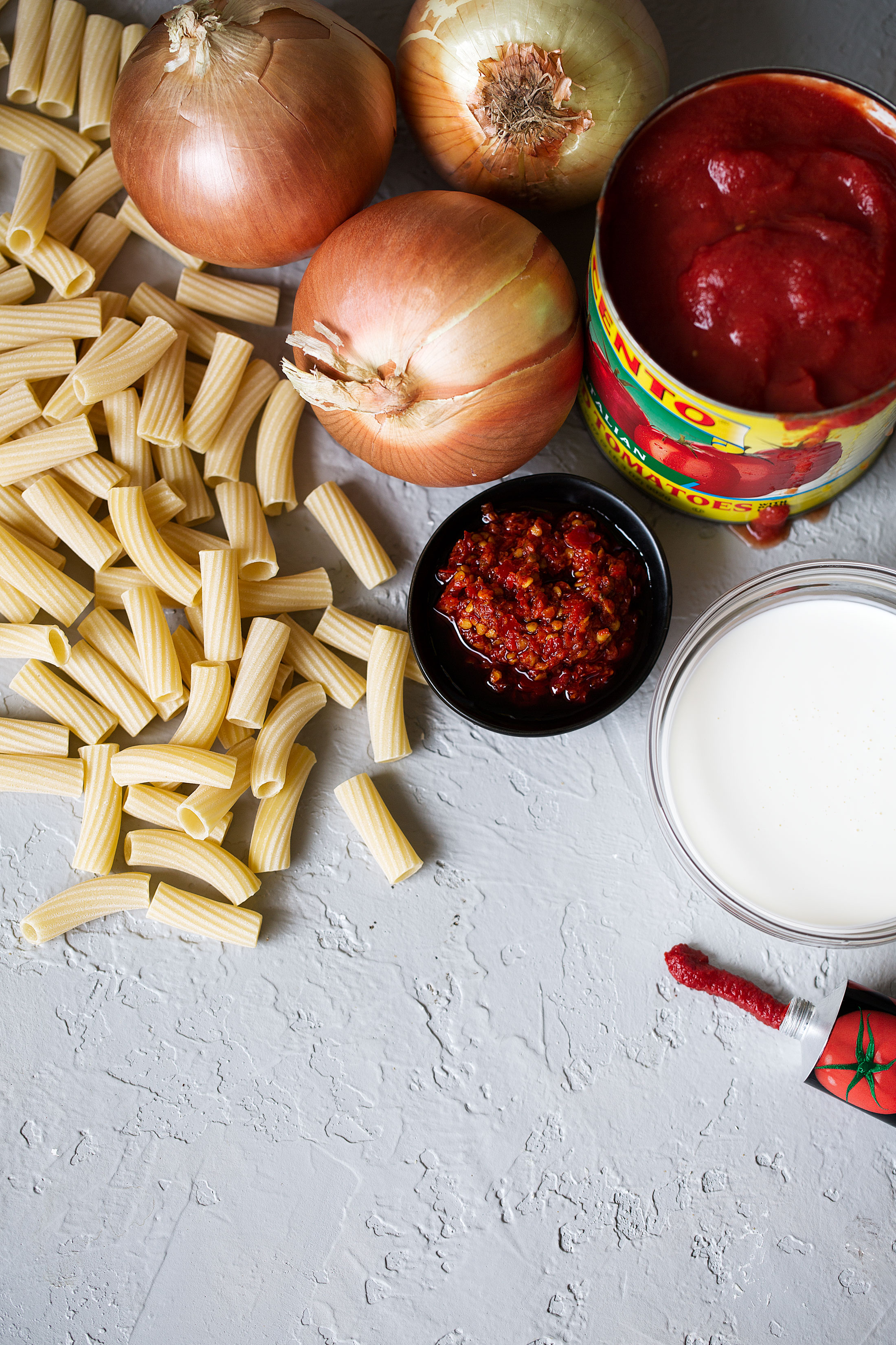 spicy rigatoni ingredients