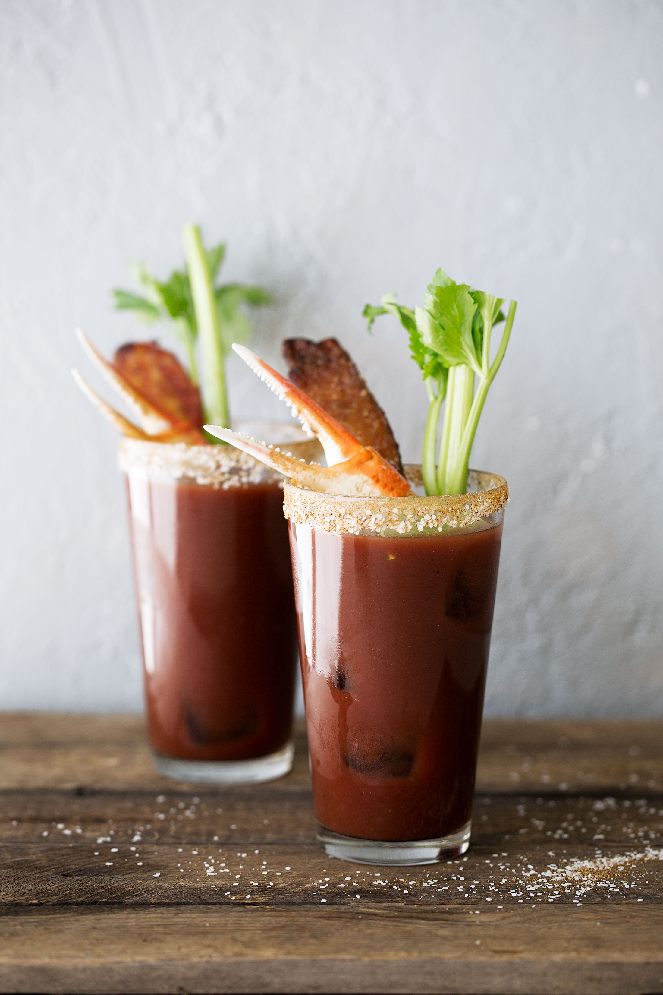 Loaded old bay bloody mary with candied bacon recipe from cooking with cocktail rings
