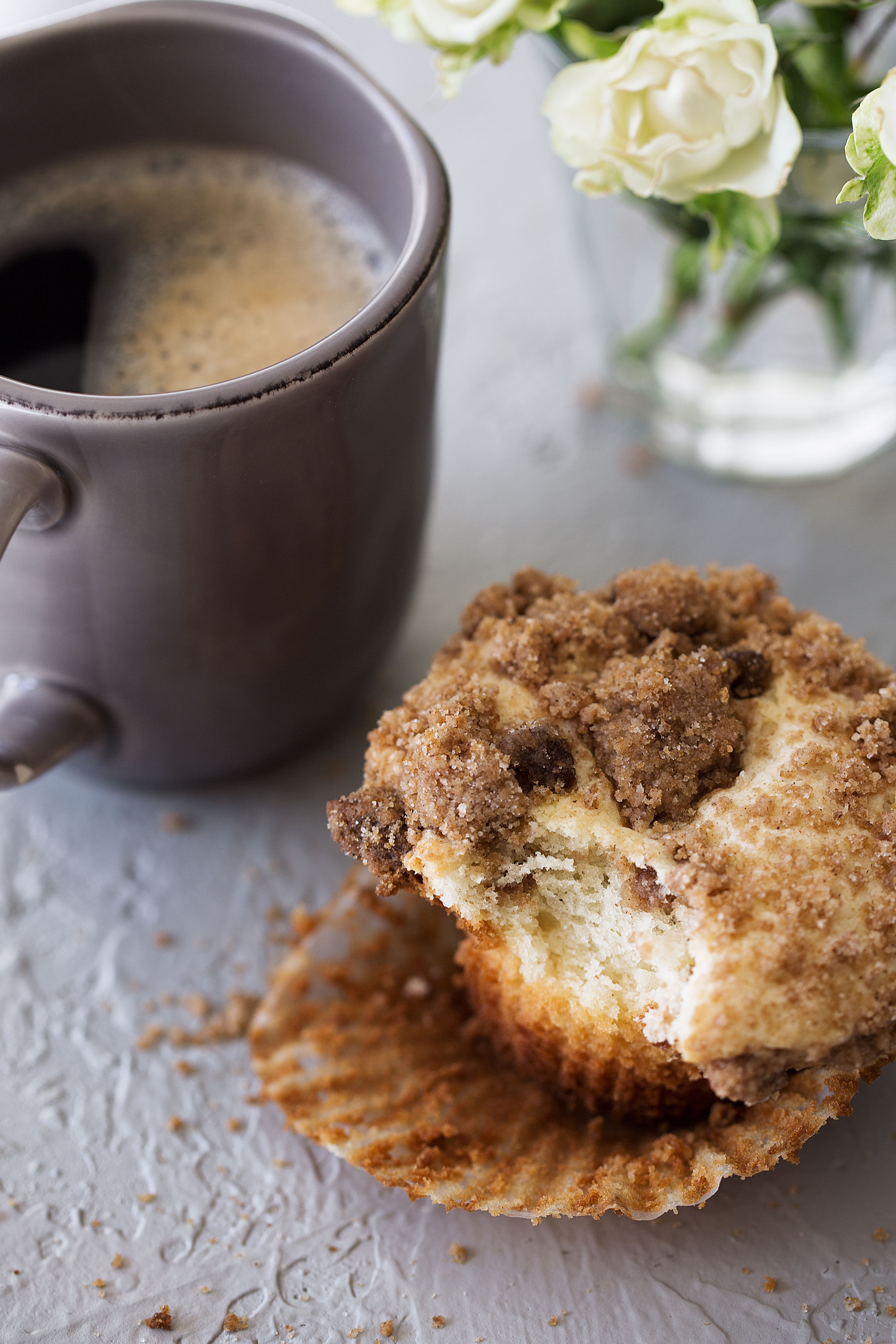 coffee cake streusel muffins from cooking with cocktail rings bite out