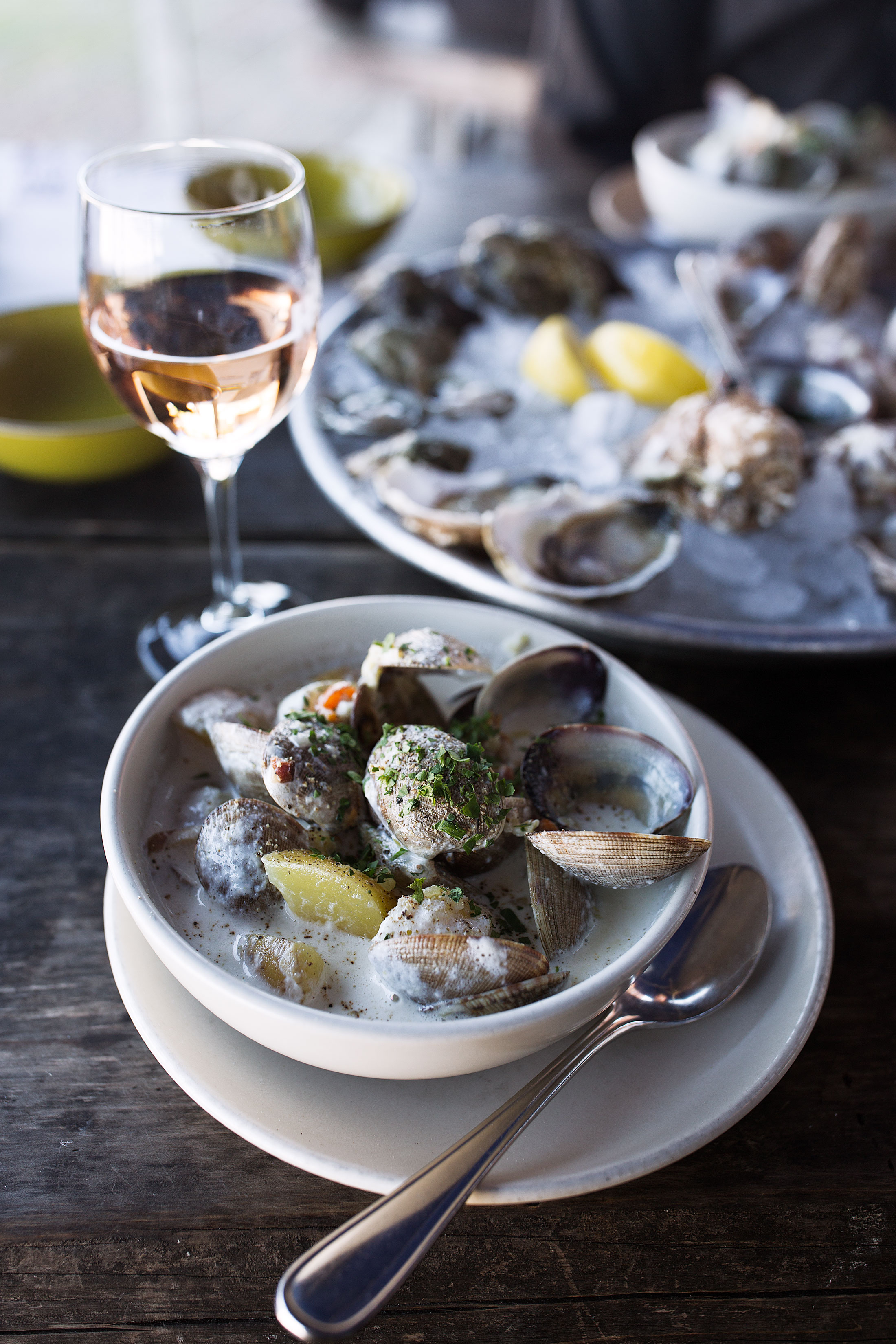 hog island oyster co clam chowder napa valley cooking with cocktail rings