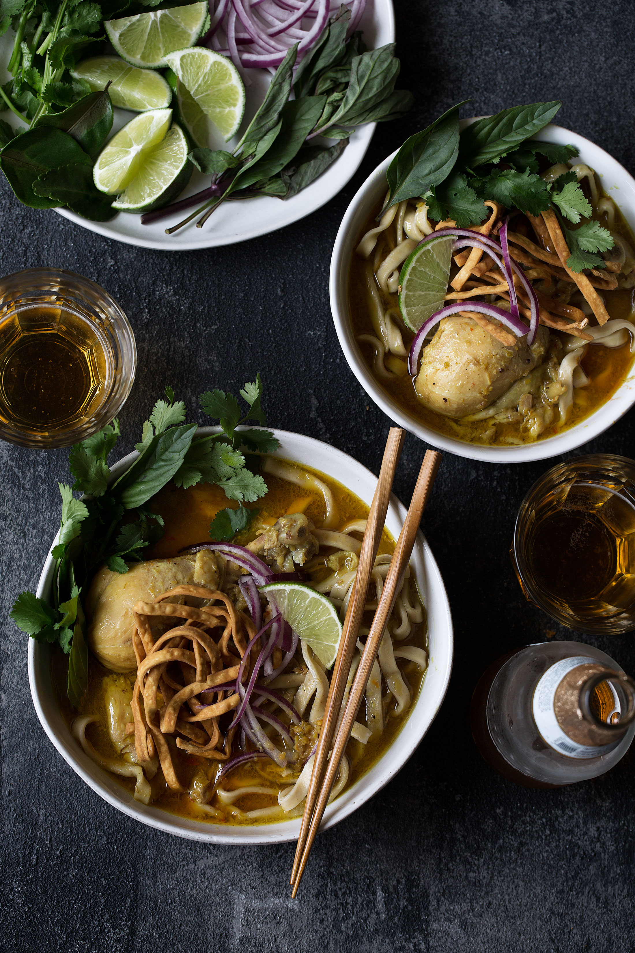 chicken khao soi recipe from cooking with cocktail rings