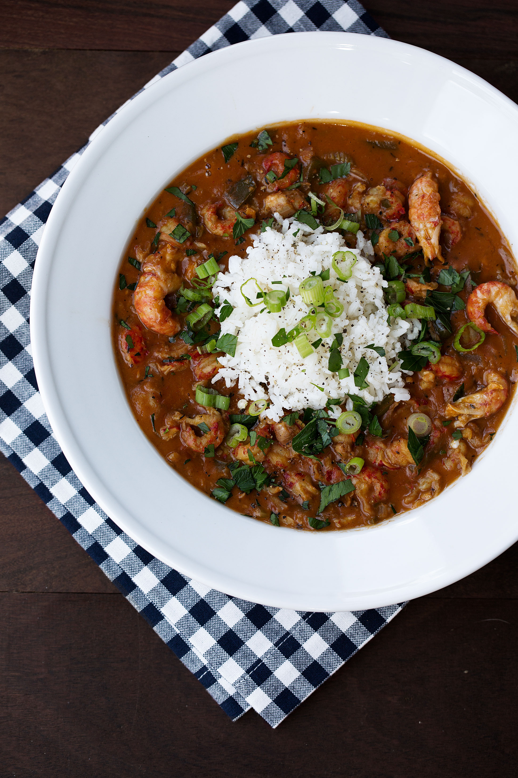 crawfish etouffee recipe from cooking with cocktail rings closeup