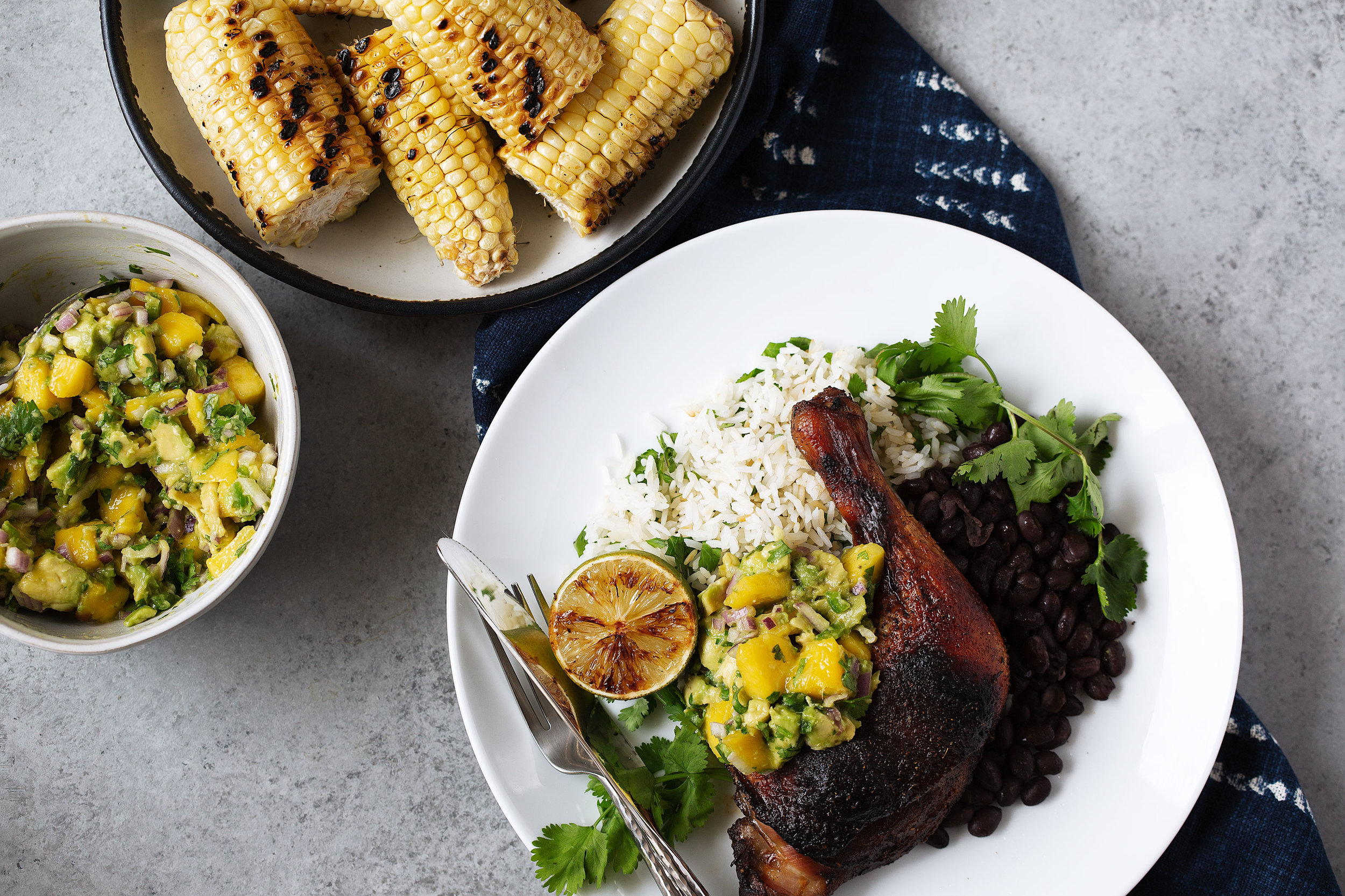 roast jerk chicken with mango avocado salsa from cooking with cocktail rings