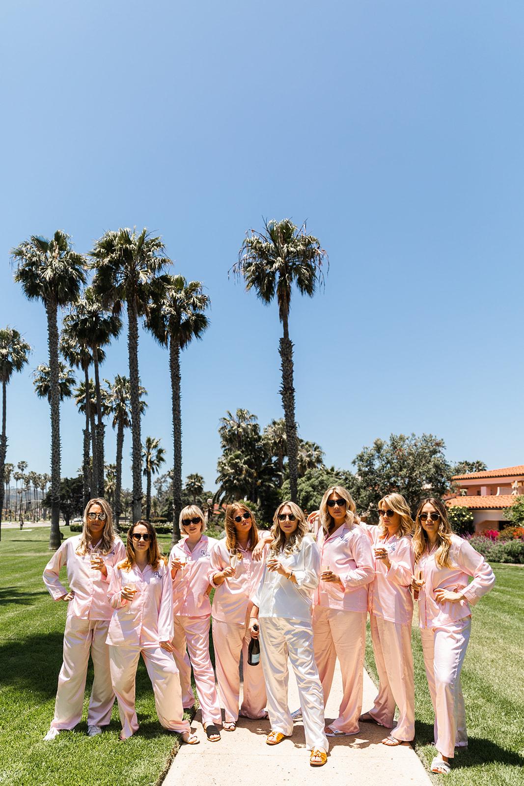 bridesmaids in pajamas santa barbara
