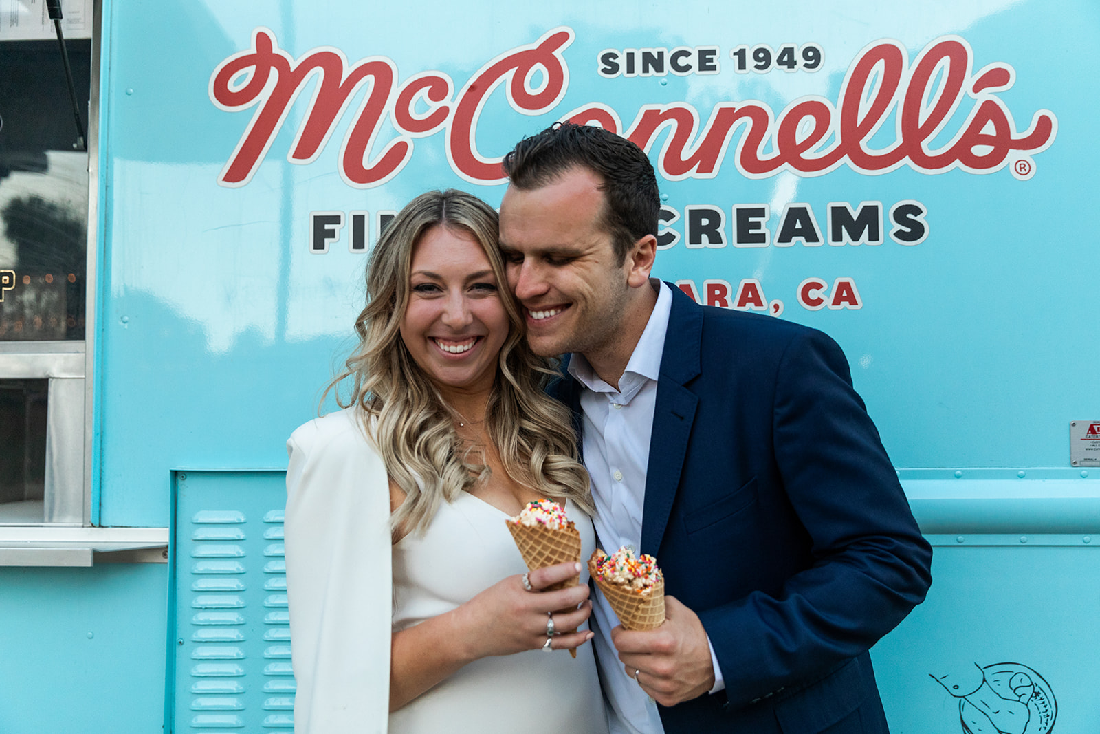 kylie and aaron wedding santa barbara cooking with cocktail rings mcconnells ice cream