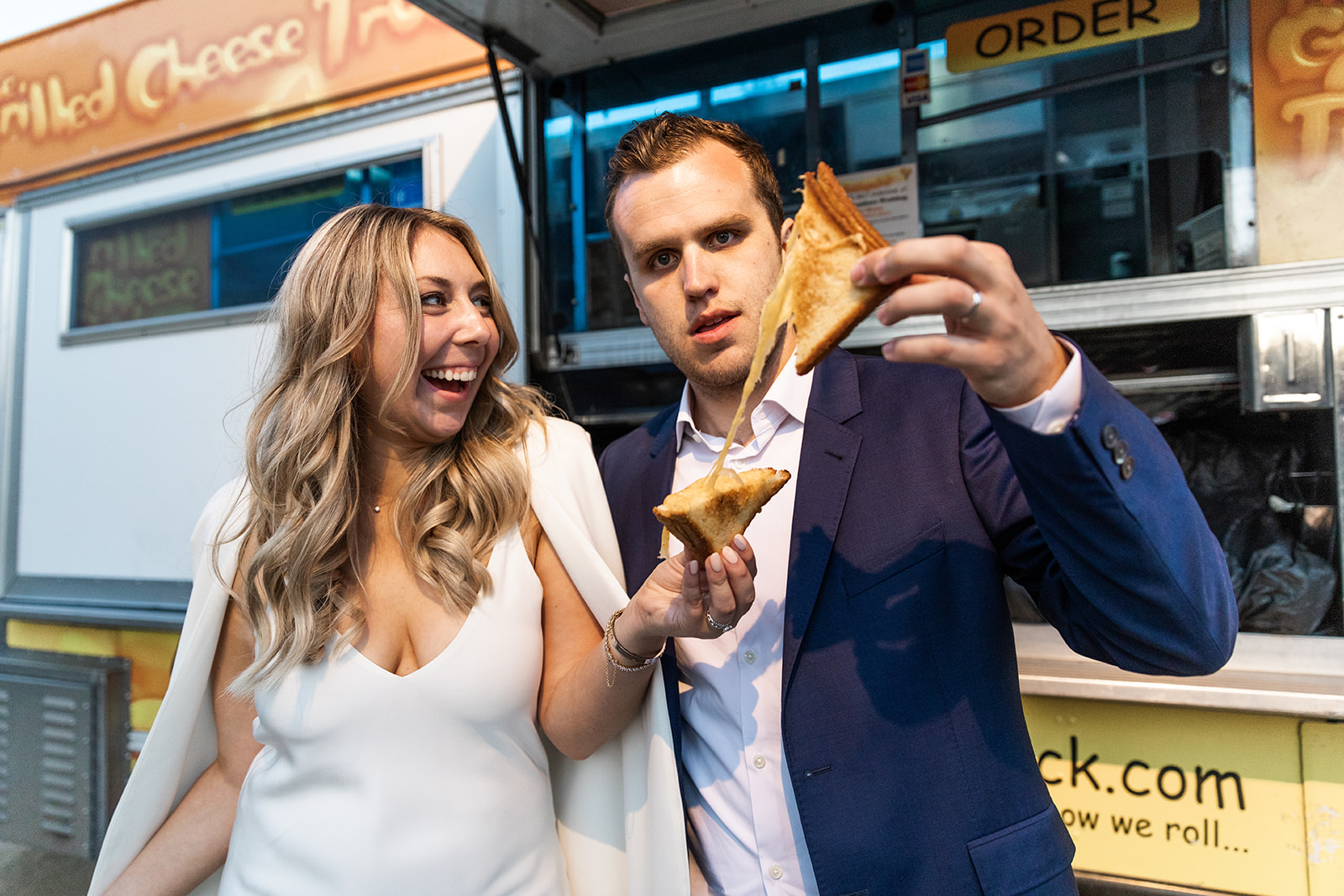 kylie and aaron wedding santa barbara cooking with cocktail rings grilled cheese truck