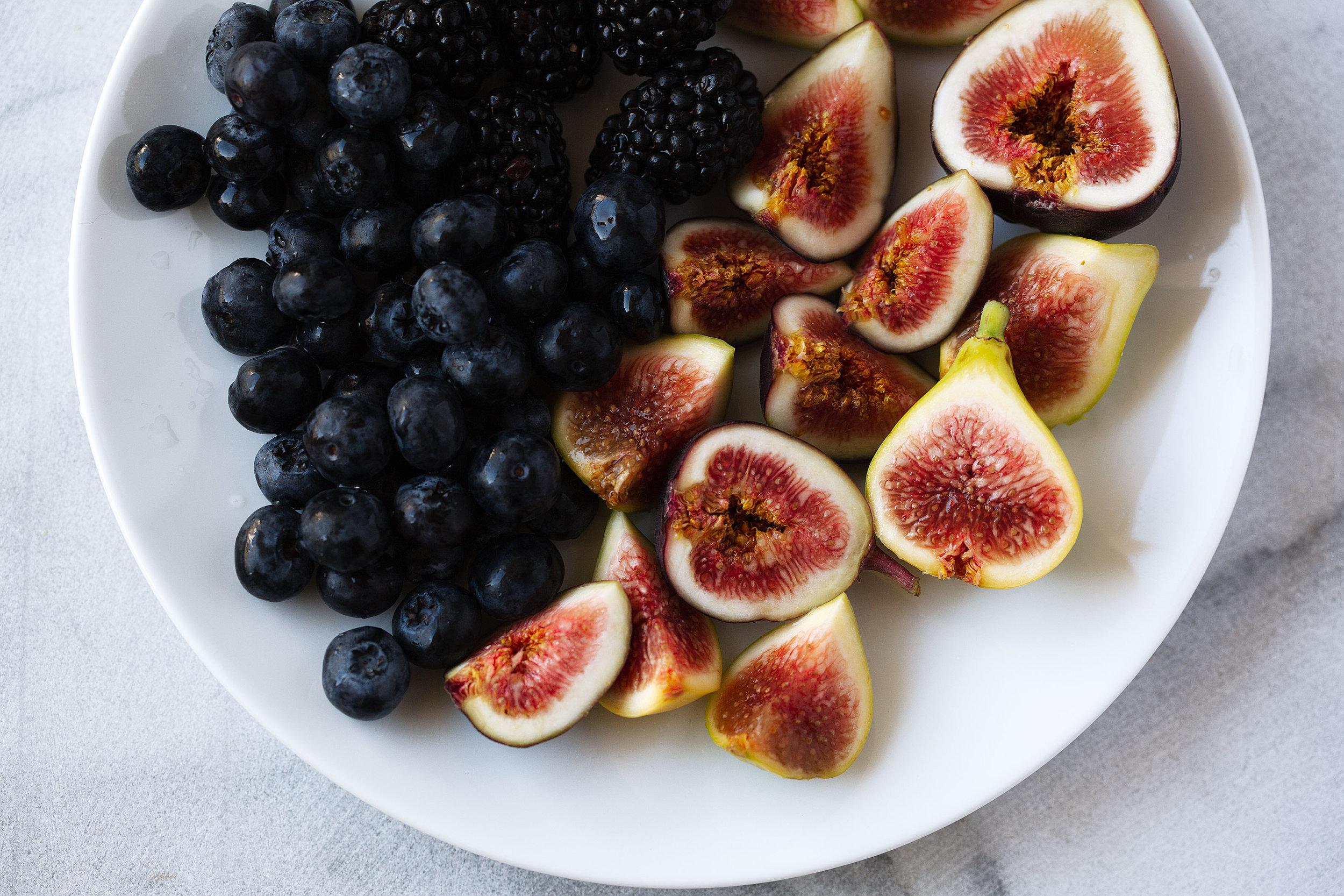 figs blackberries and blueberries ingredient shot