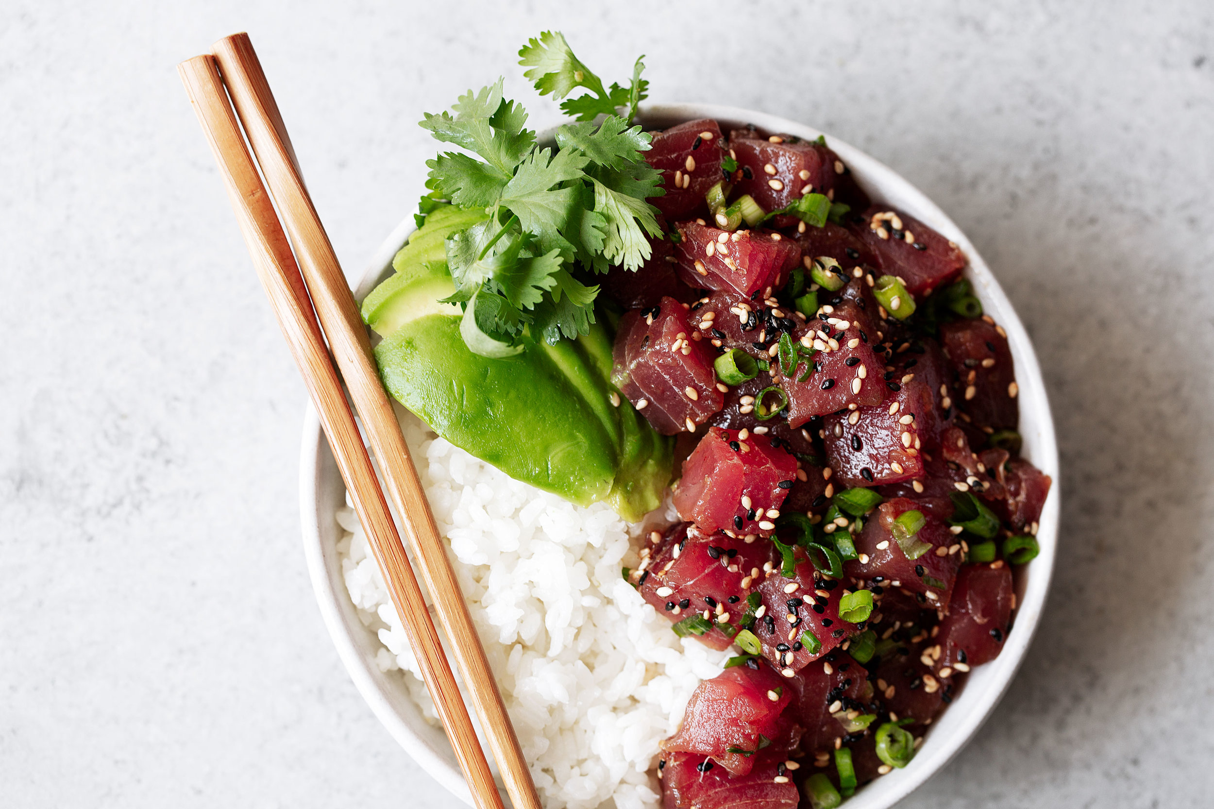 Ahi Tuna Poke recipe from cooking with cocktail rings