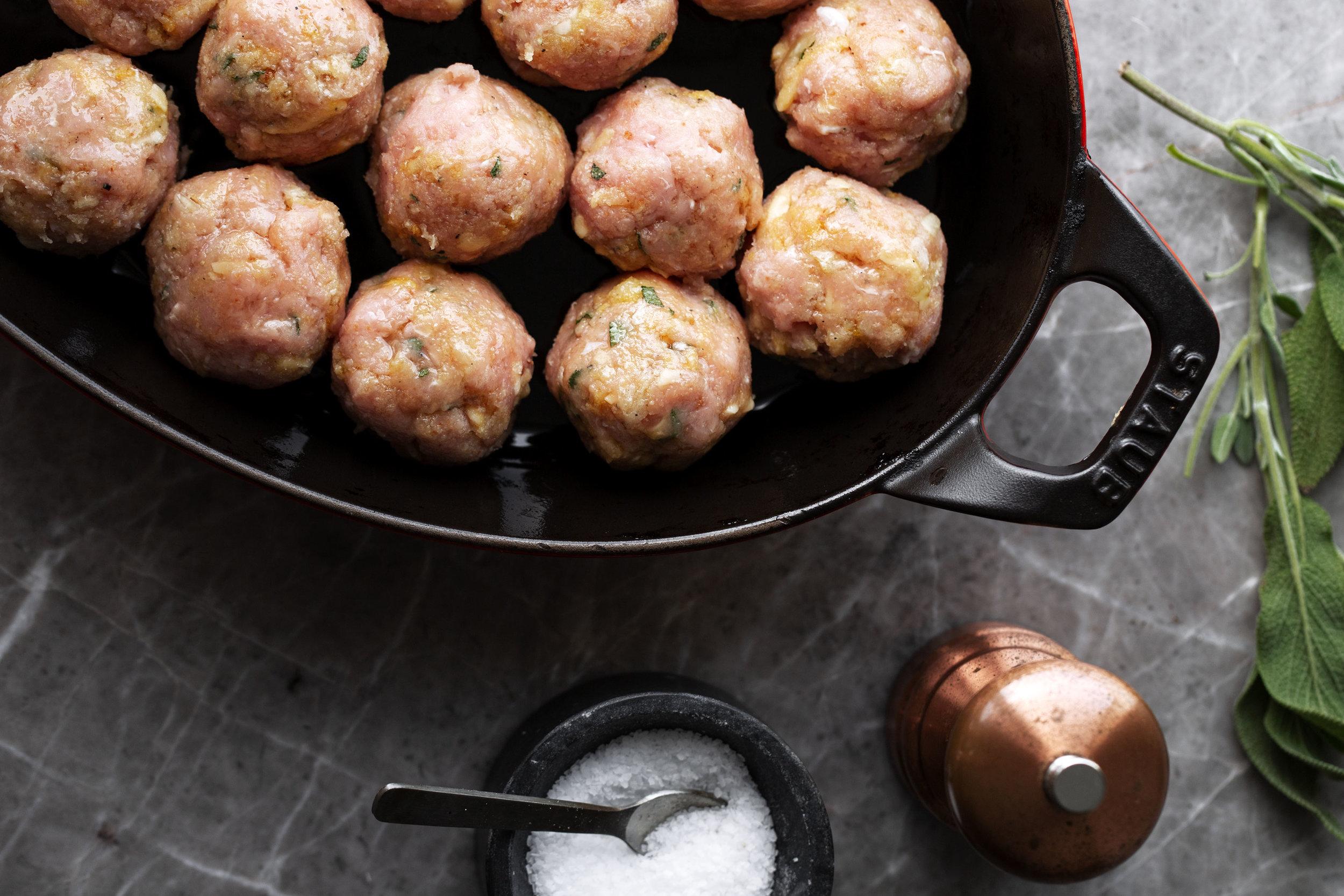 thanksgiving turkey meatballs for baking