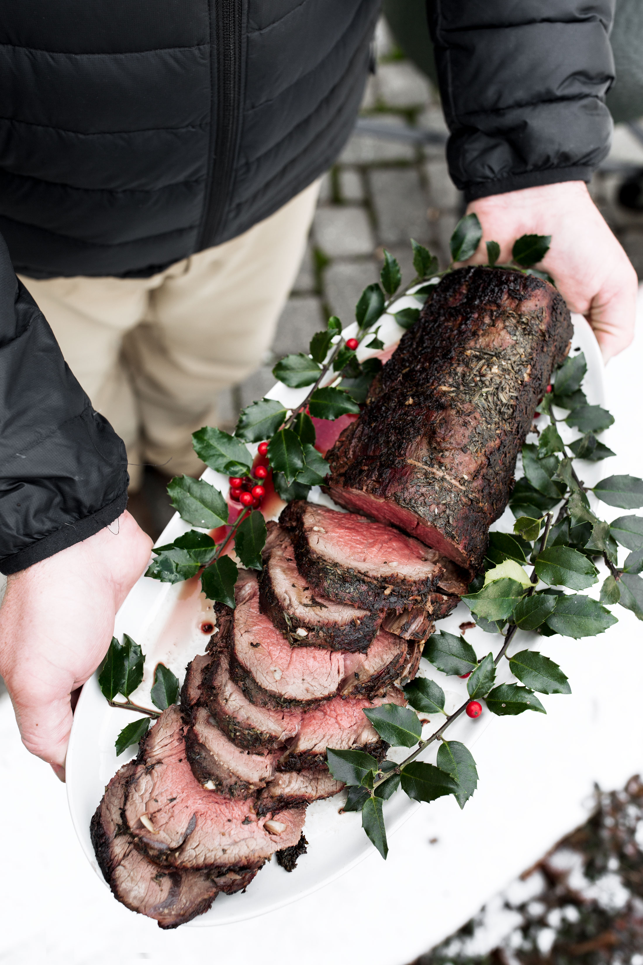 Herb Roast Beef Tenderloin recipe from cooking with cocktail rings
